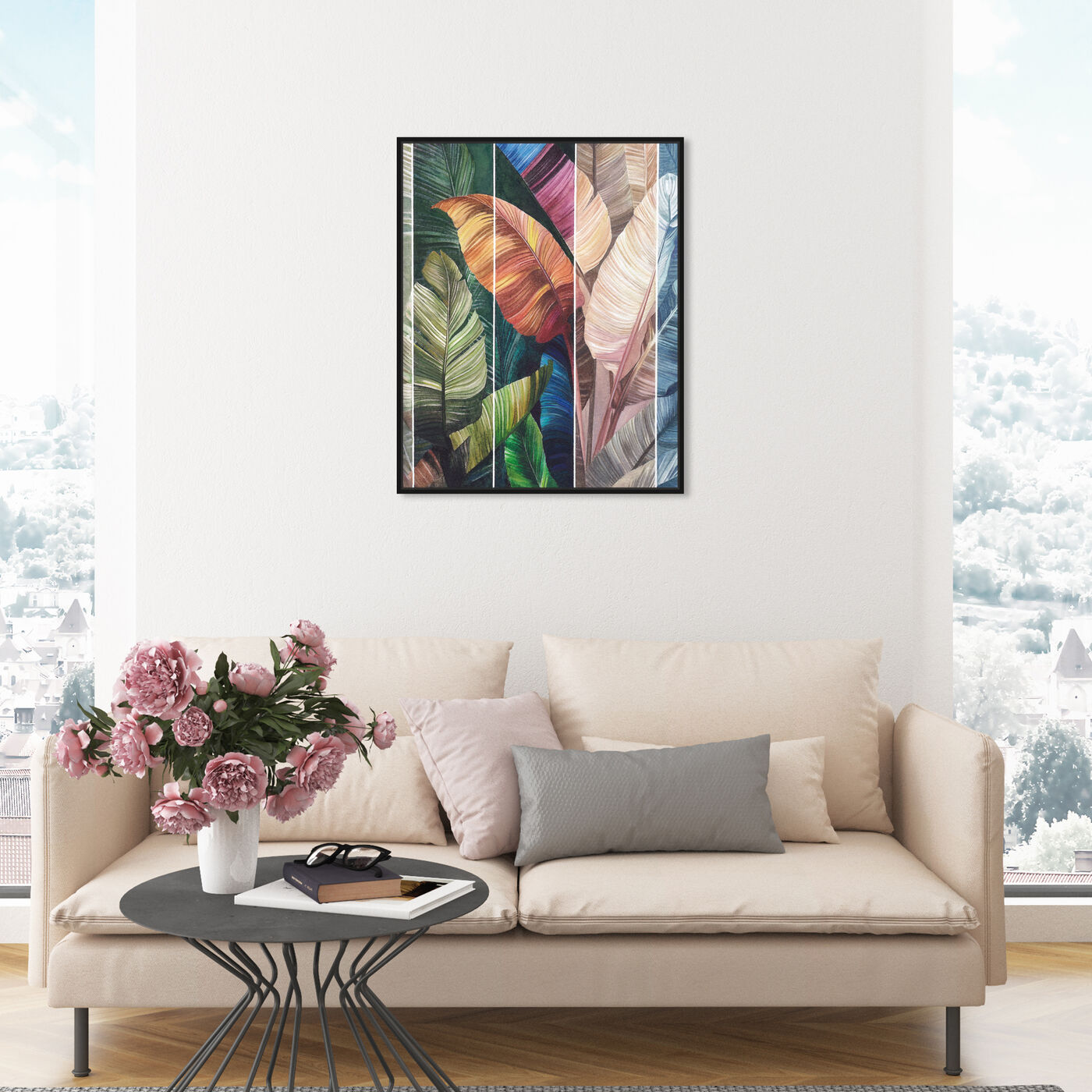 Hanging view of Tropical Leaves Views featuring floral and botanical and botanicals art.