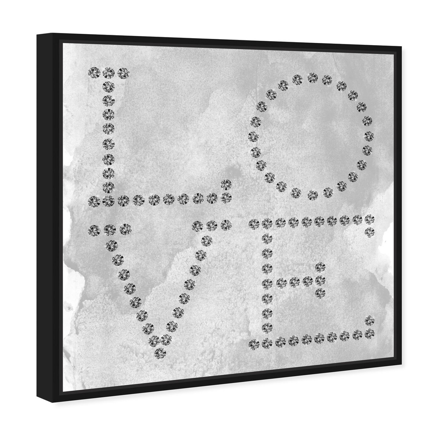 Angled view of Love Diamonds featuring typography and quotes and love quotes and sayings art.