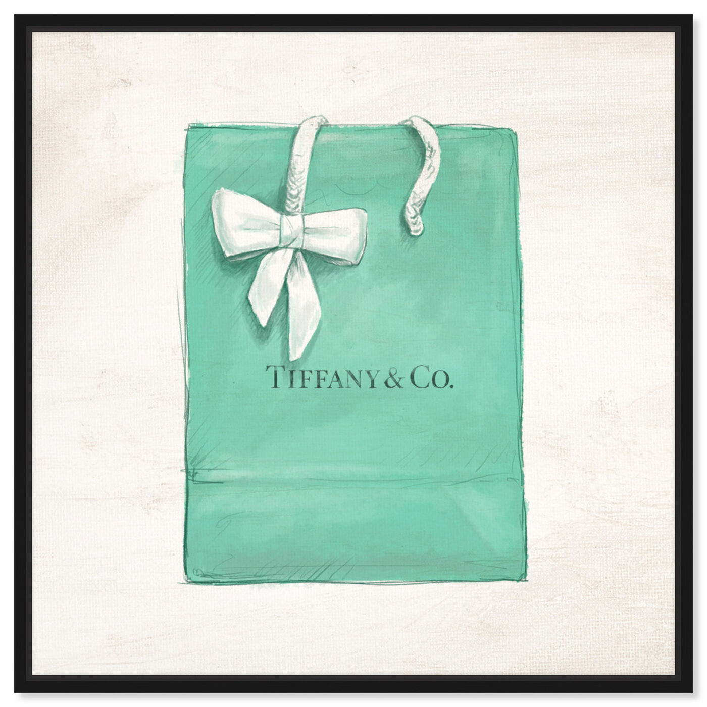 Front view of Jewelry Shopping Bag I featuring fashion and glam and essentials art.