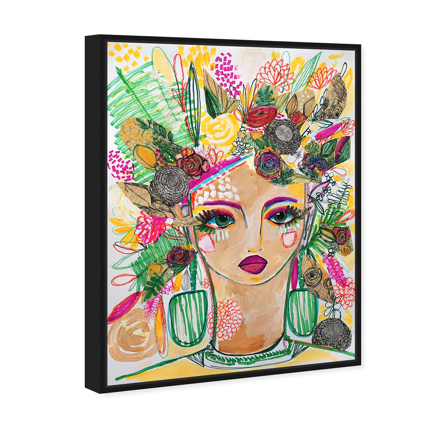 Angled view of Spring Goddess featuring people and portraits and portraits art.