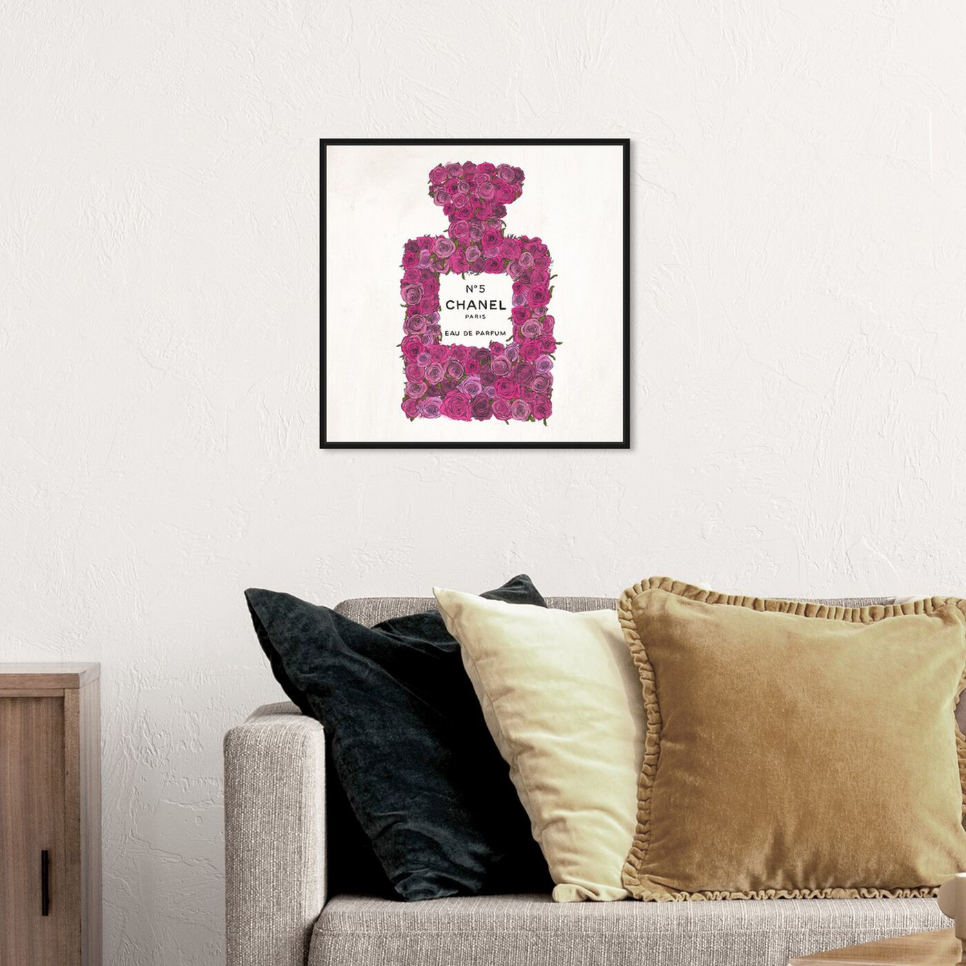 Hanging view of Number 5 Rose featuring fashion and glam and perfumes art.