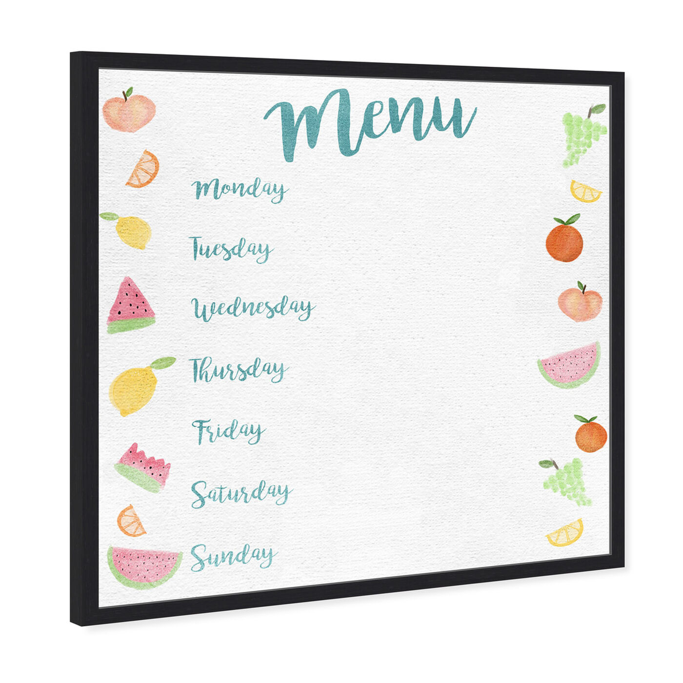 Angled view of Menu Fruits featuring education and office and whiteboards art.