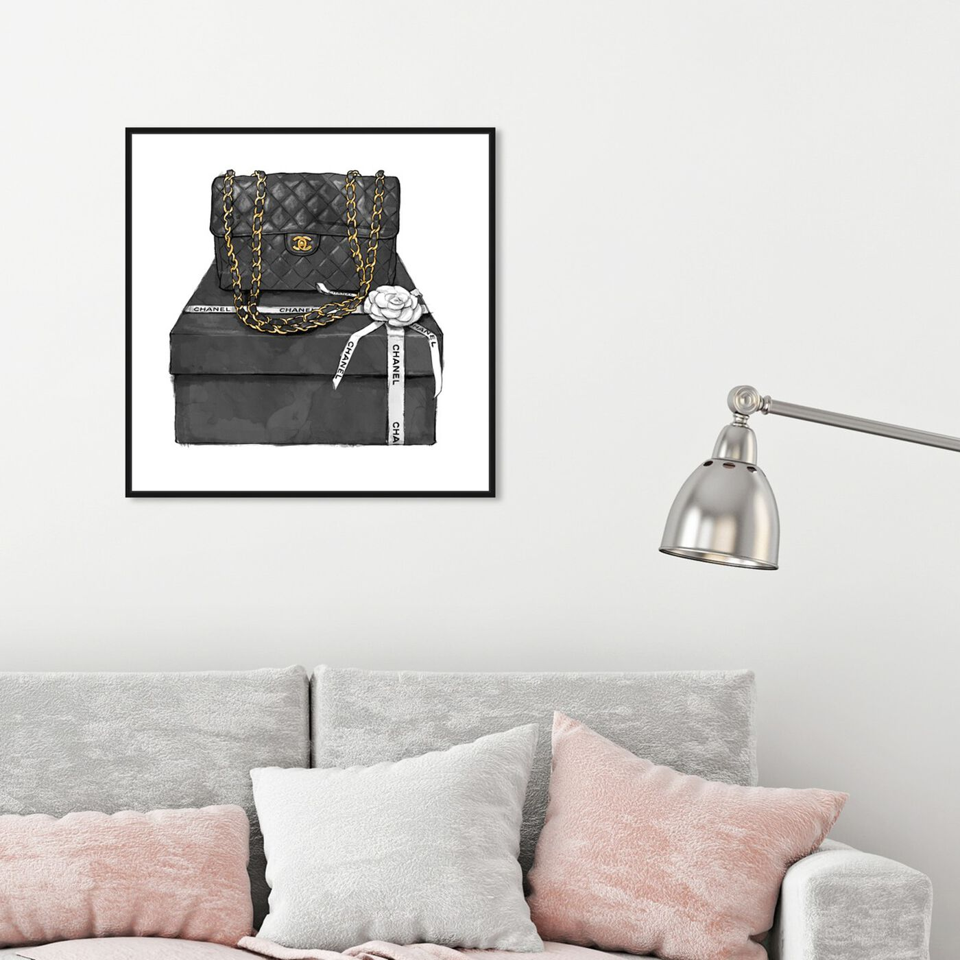 Hanging view of Boxed Beauty featuring fashion and glam and handbags art.