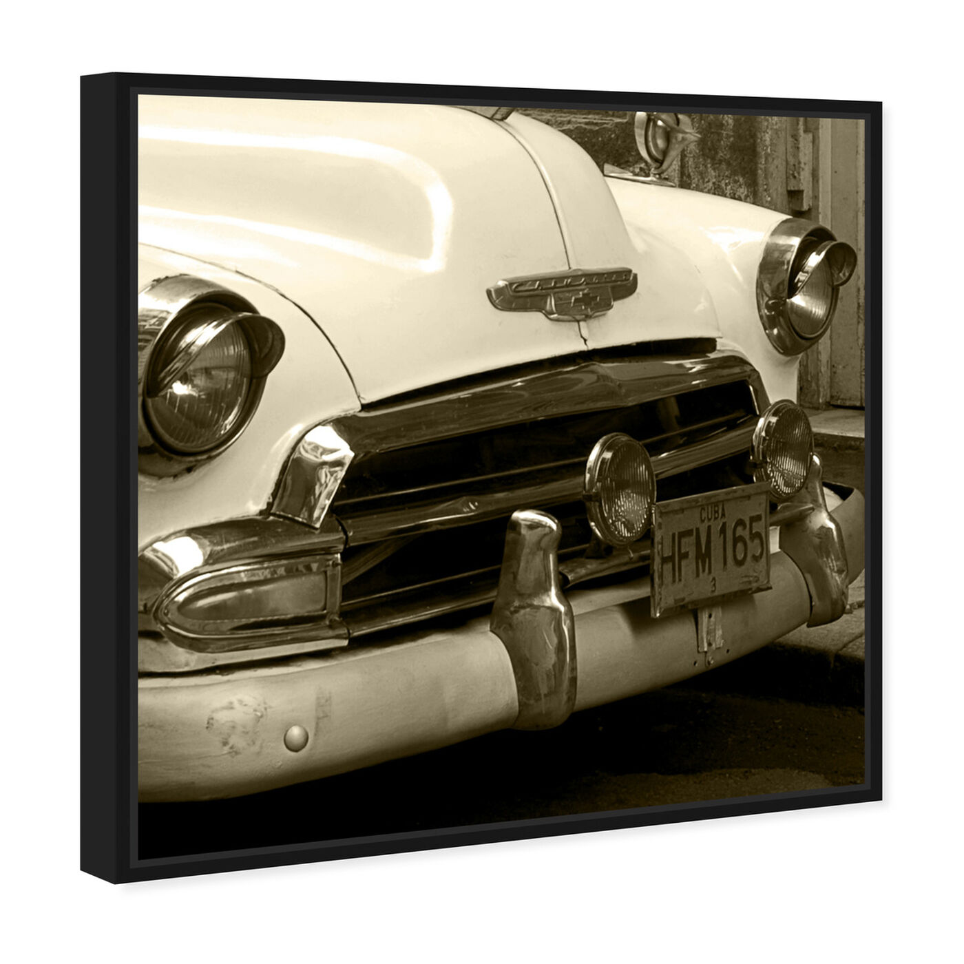 Angled view of Vintage Macchina II featuring transportation and automobiles art.