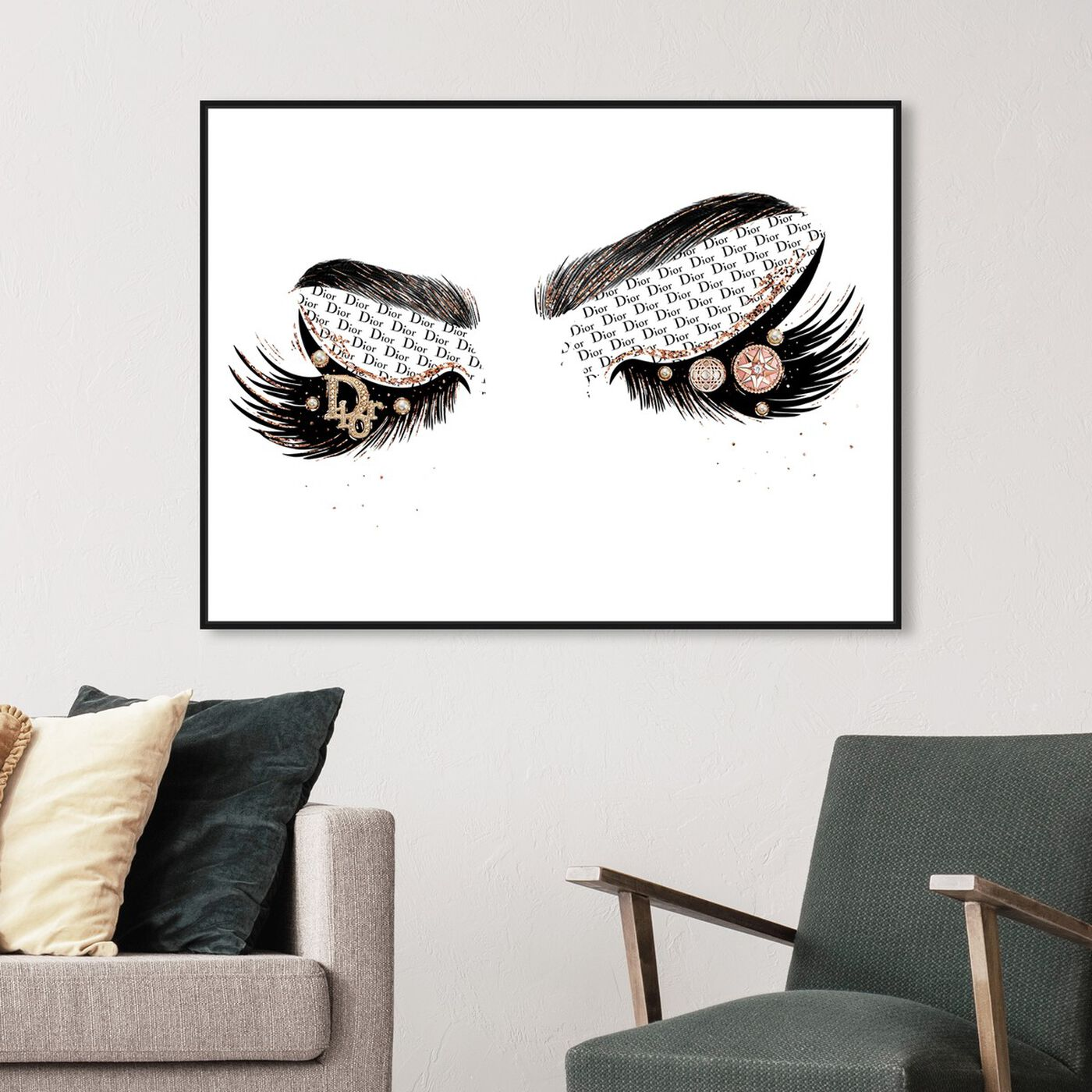 Hanging view of News and Eyeshadows featuring fashion and glam and makeup art.