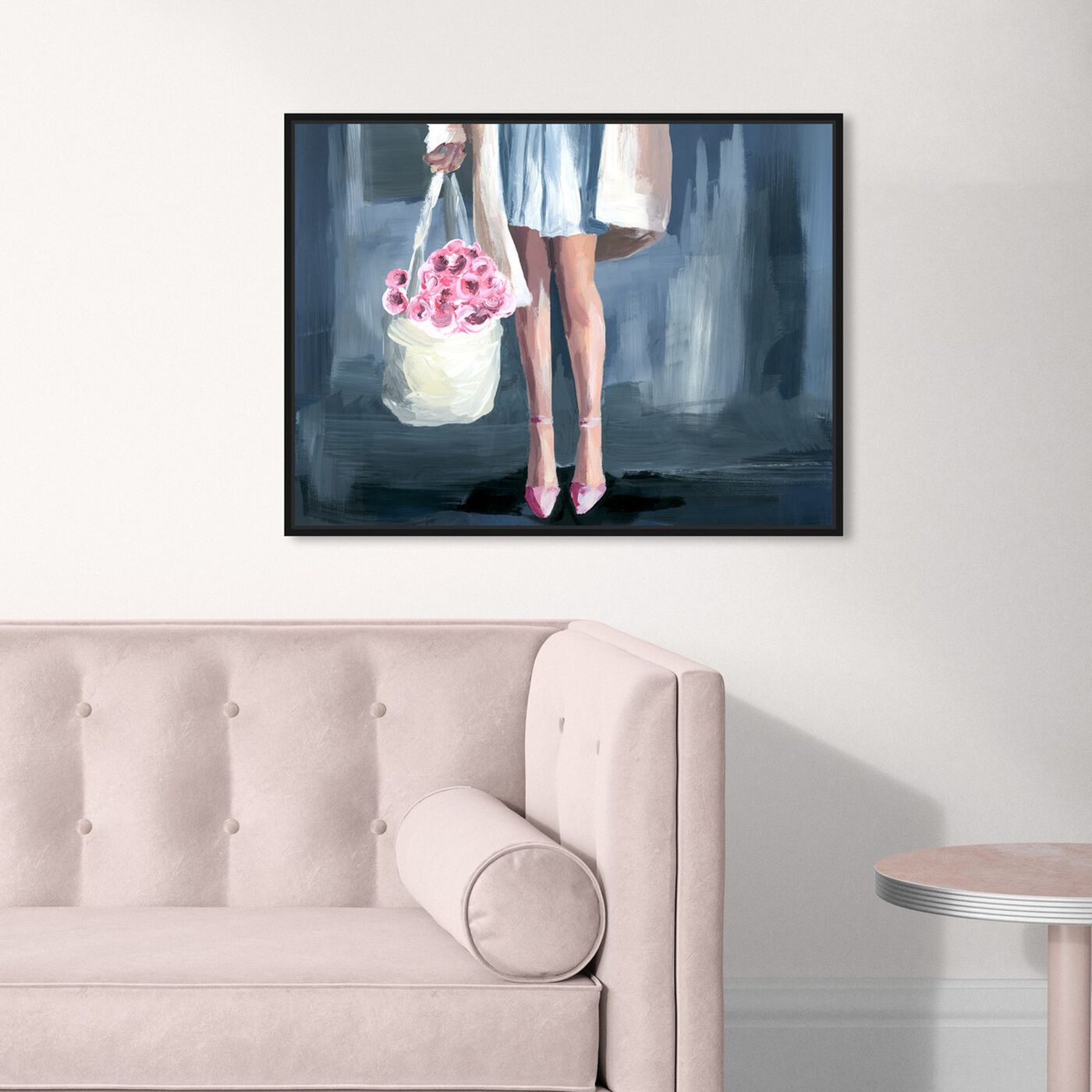 Hanging view of Shopping for Flowers featuring fashion and glam and outfits art.