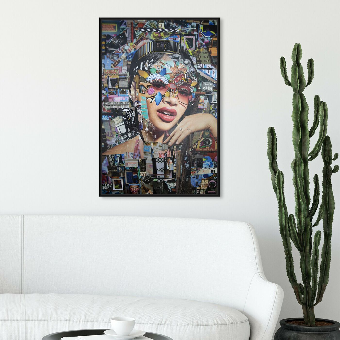 Hanging view of Katy Hirschfeld - Urban Glam Showing featuring fashion and glam and portraits art.
