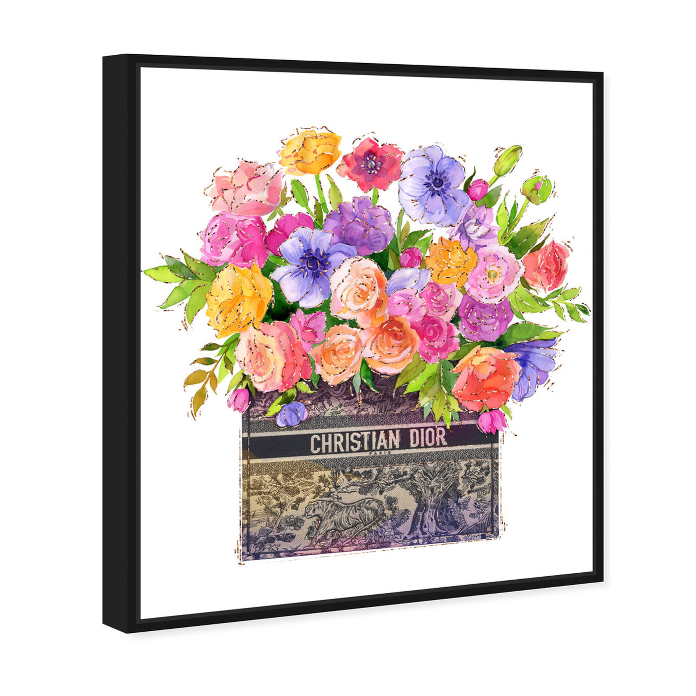 Angled view of Colors For You featuring floral and botanical and florals art.