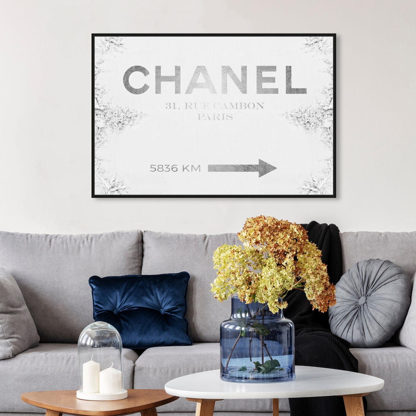 Hanging view of Couture Road Sign Classic featuring fashion and glam and road signs art.