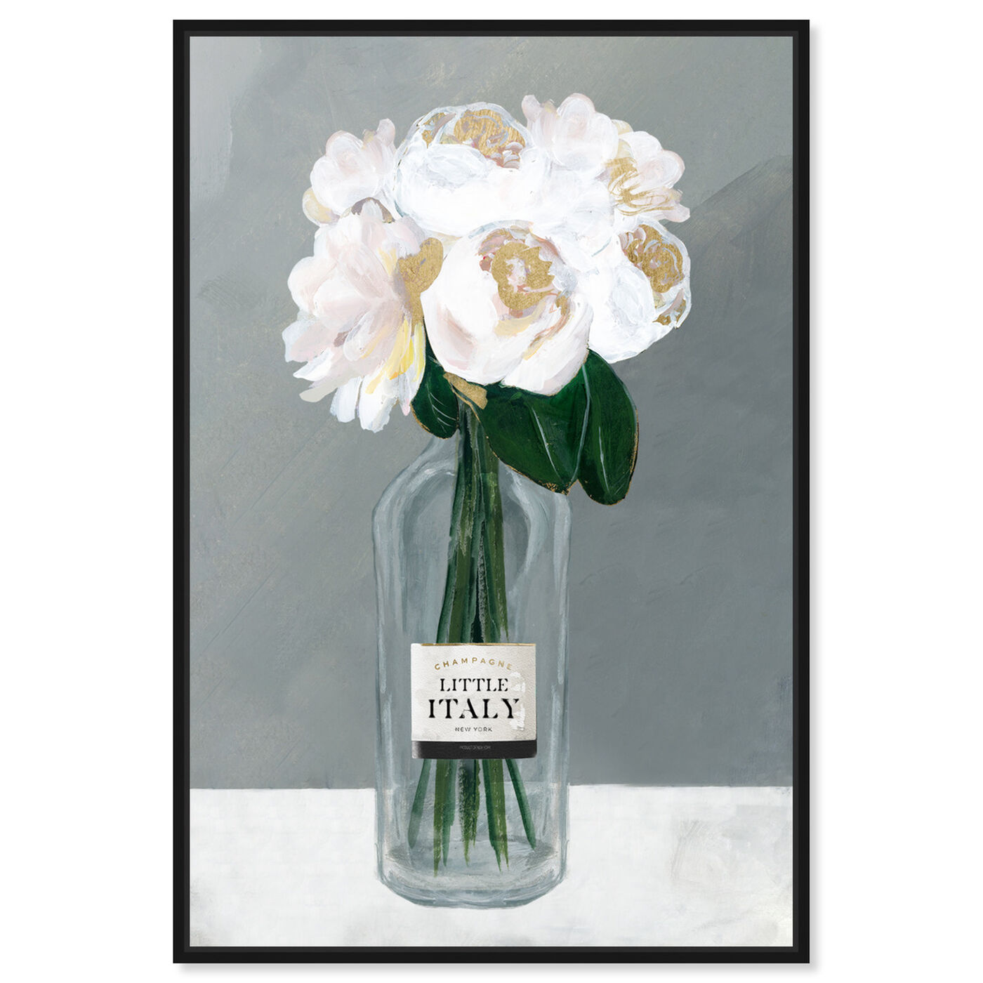 Front view of Little Italy Roses featuring floral and botanical and florals art.