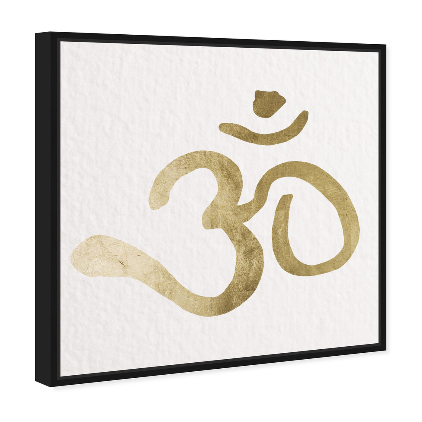 Angled view of Ohm Gold Paper featuring symbols and objects and mystic symbols art.