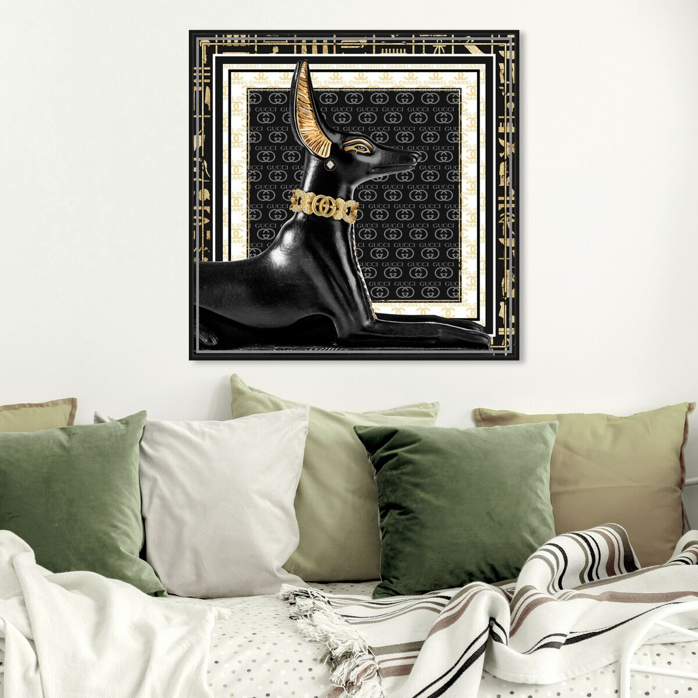 Hanging view of Royal Canine featuring animals and dogs and puppies art.