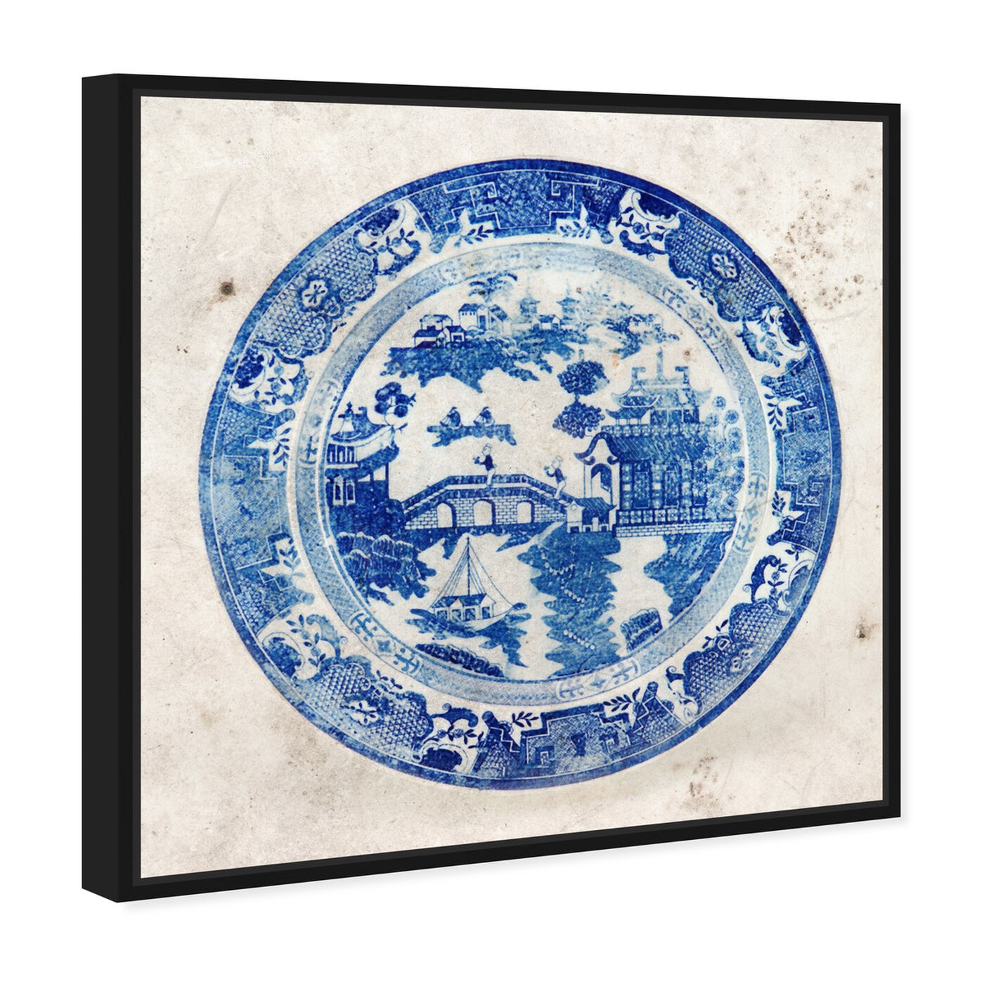 Angled view of Fajans China featuring world and countries and asian cultures art.