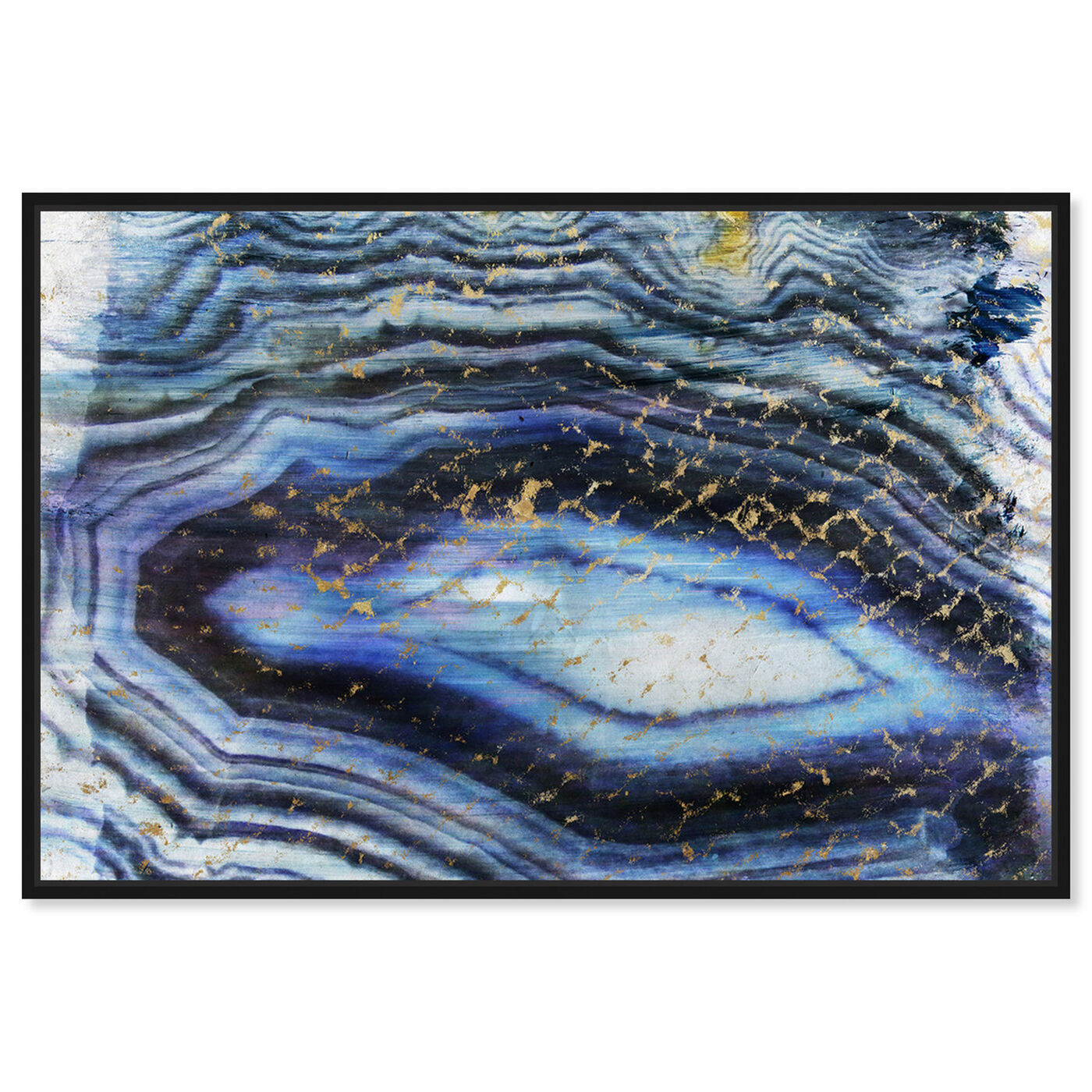 Front view of Sea of Gold featuring abstract and crystals art.