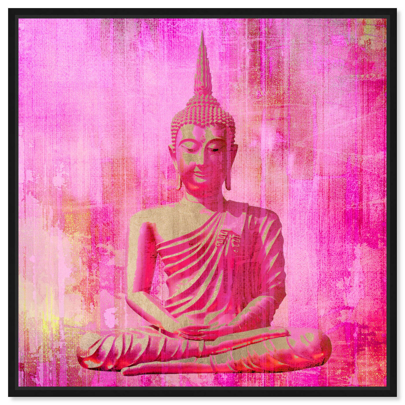 Front view of Buddha Pink featuring spiritual and religious and religion art.