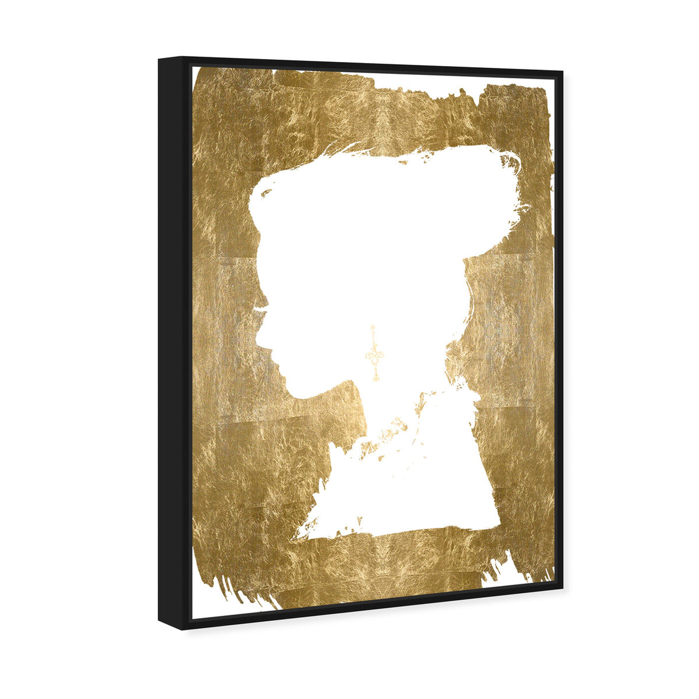 Angled view of Beauté Gold Foil featuring fashion and glam and portraits art.