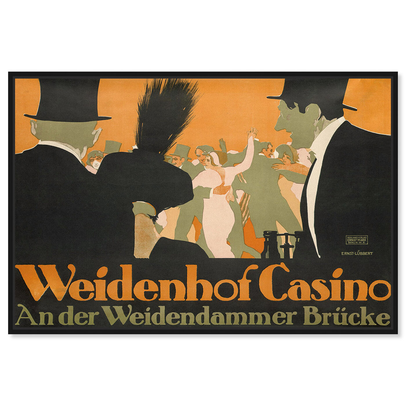 Front view of Weidenhof Casino featuring advertising and posters art.