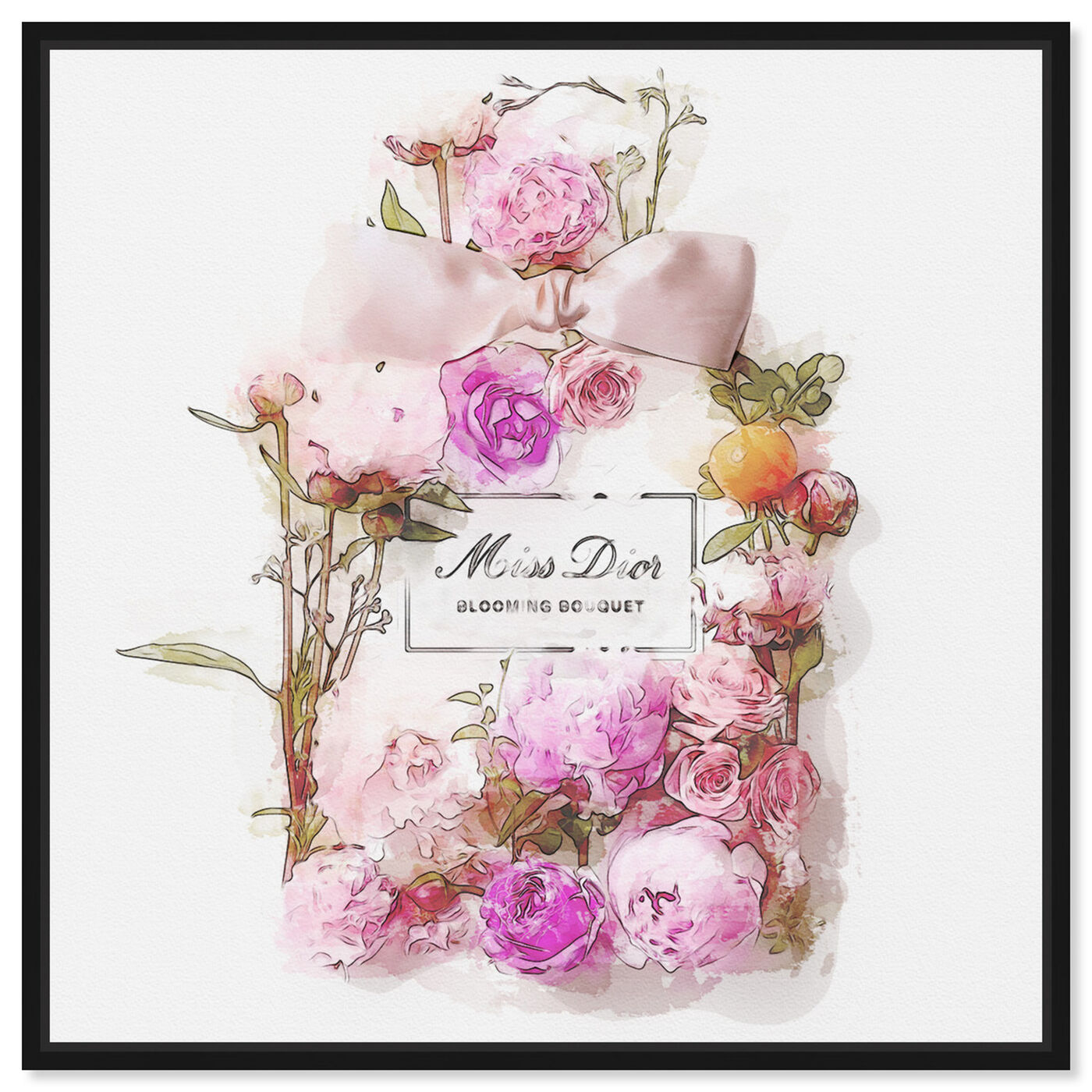 Front view of Bouquet featuring fashion and glam and perfumes art.