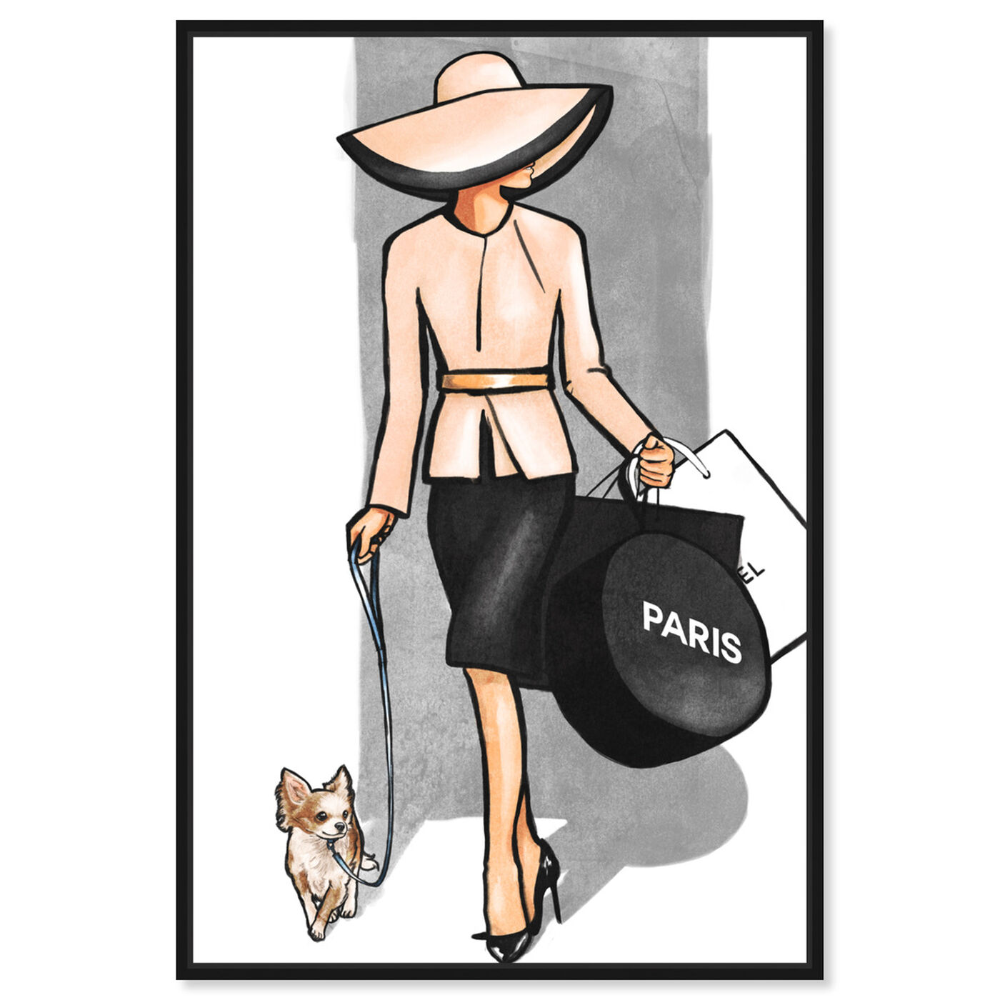 Front view of Go For a Walk Paris featuring fashion and glam and accessories art.
