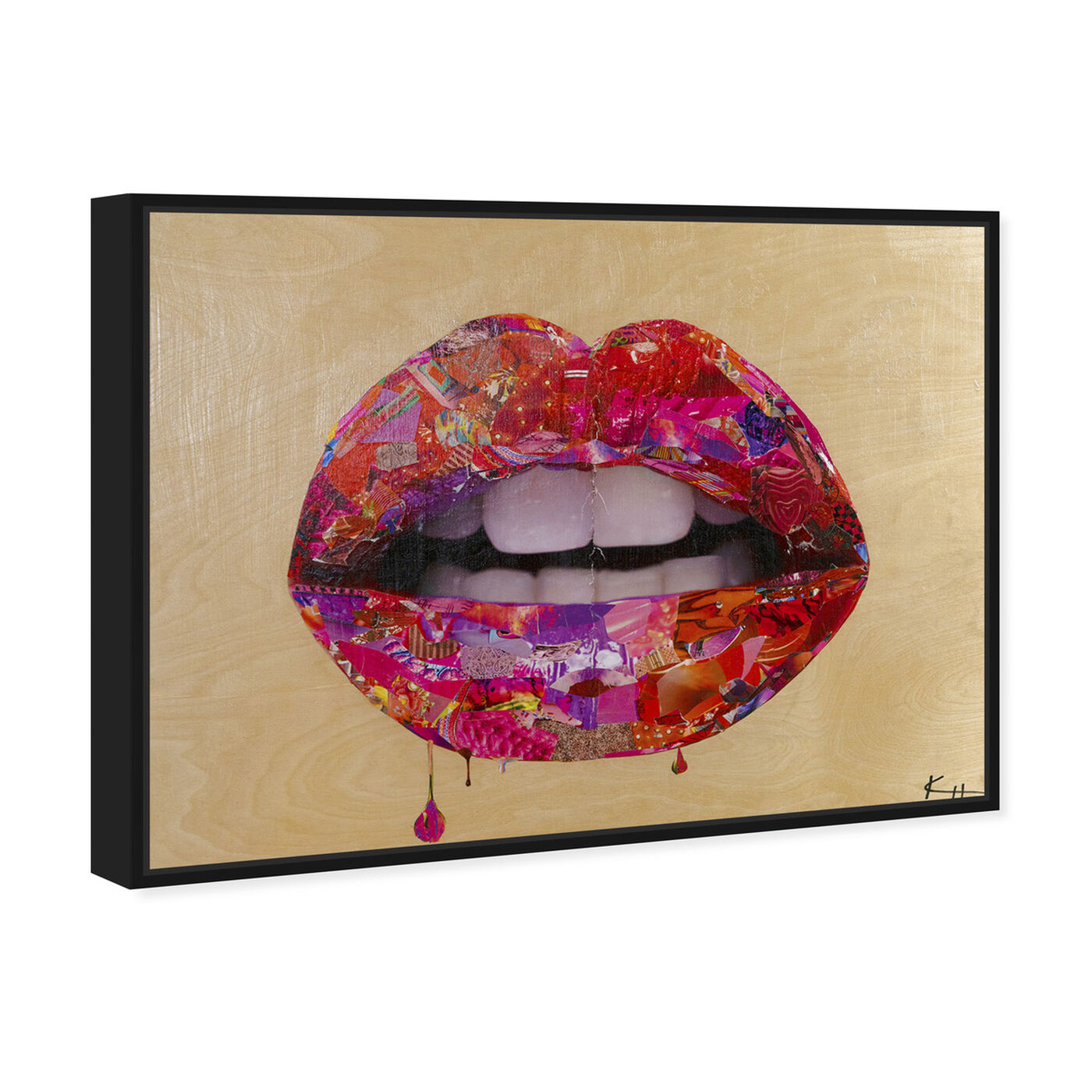 Angled view of Katy Hirschfeld - Beauty Cherry Lips featuring fashion and glam and lips art.