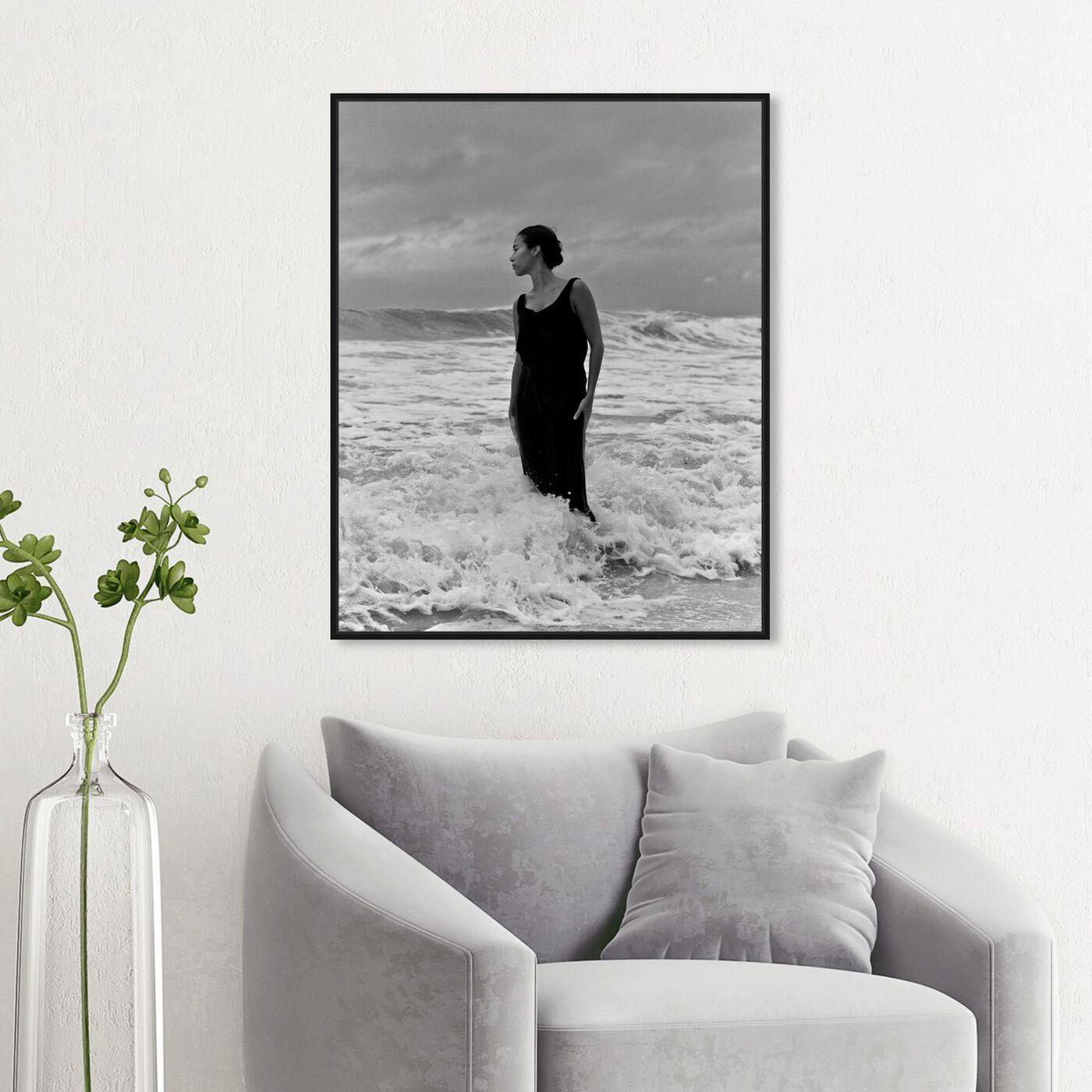 Hanging view of Ekaterina Juskowski - Soy la Mar featuring nautical and coastal and coastal art.