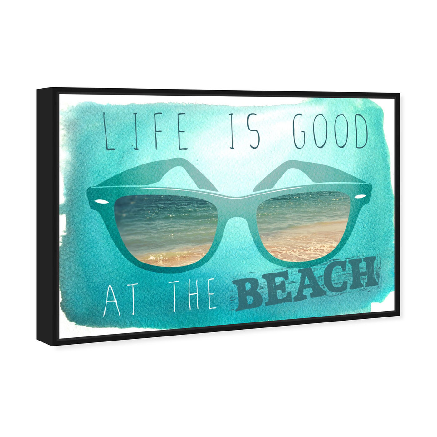 Angled view of At The Beach featuring typography and quotes and quotes and sayings art.