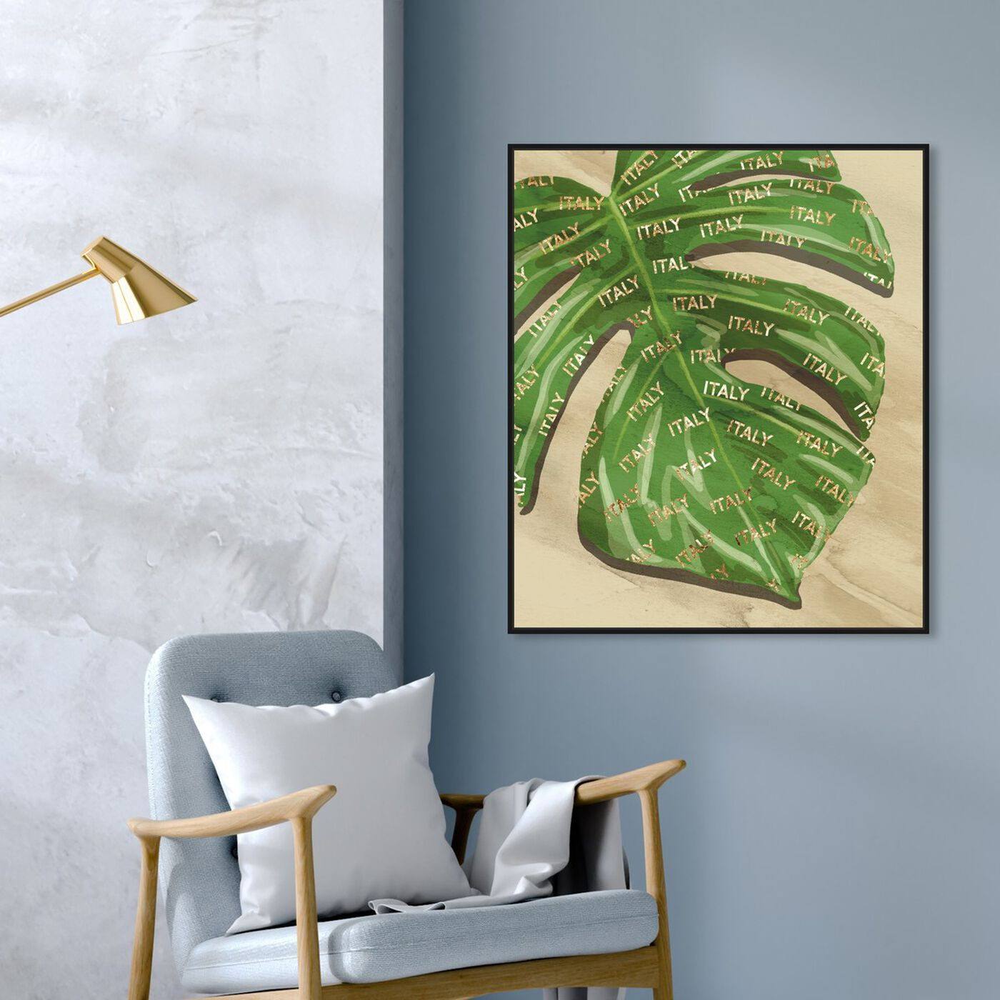 Hanging view of Italy Fashion Leaves featuring fashion and glam and lifestyle art.