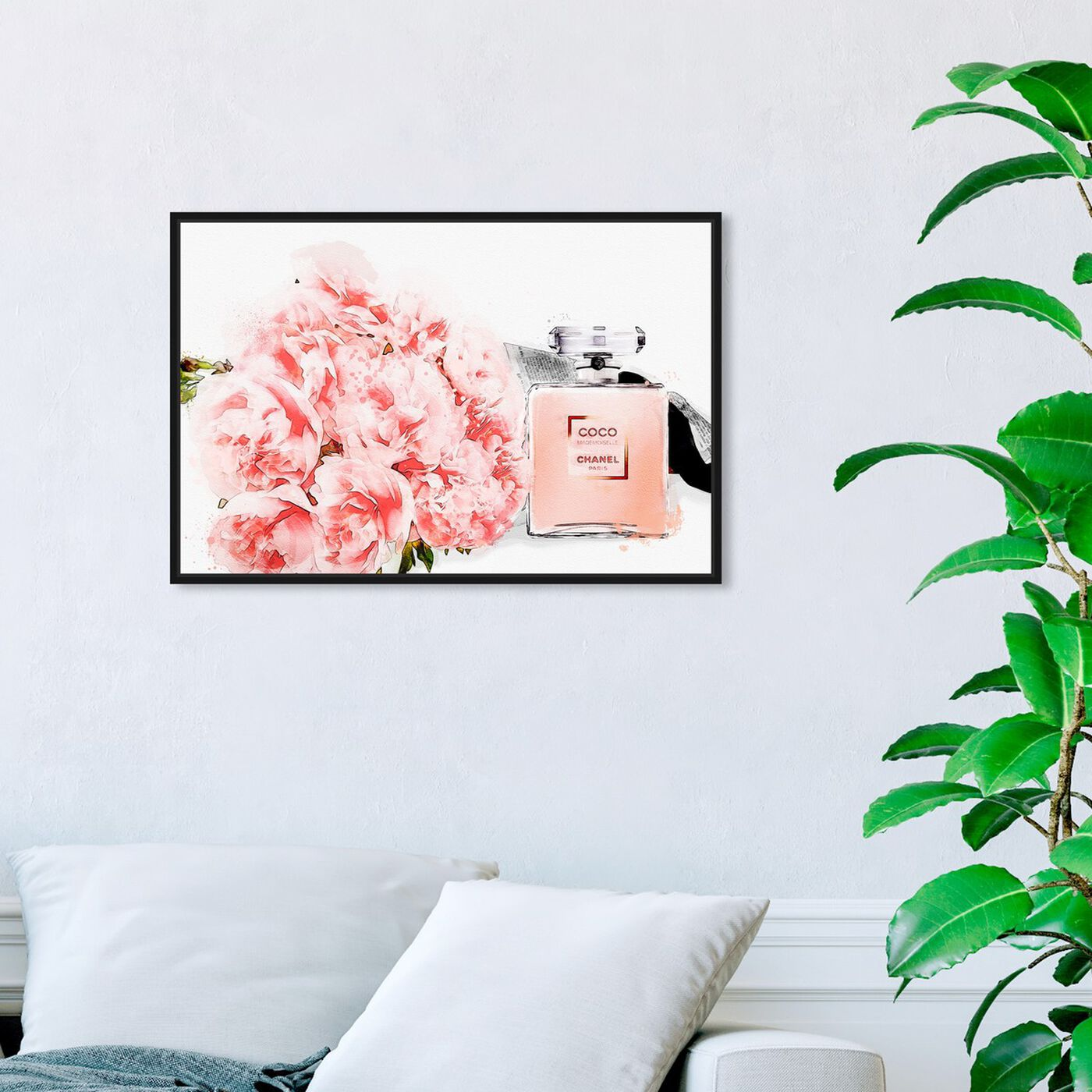Hanging view of Flowers and Perfume Glam featuring fashion and glam and perfumes art.