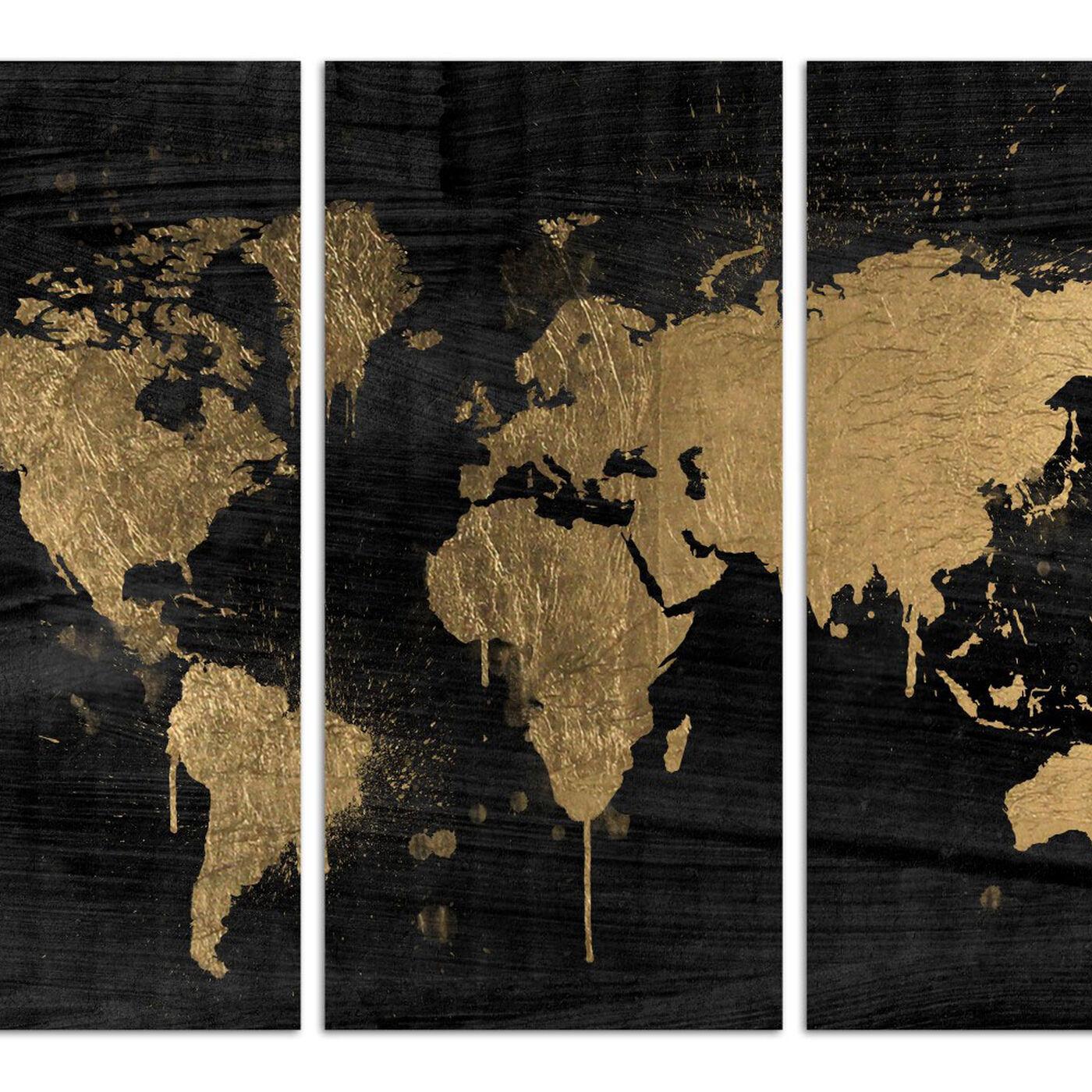 Mapamundi Gold Triptych