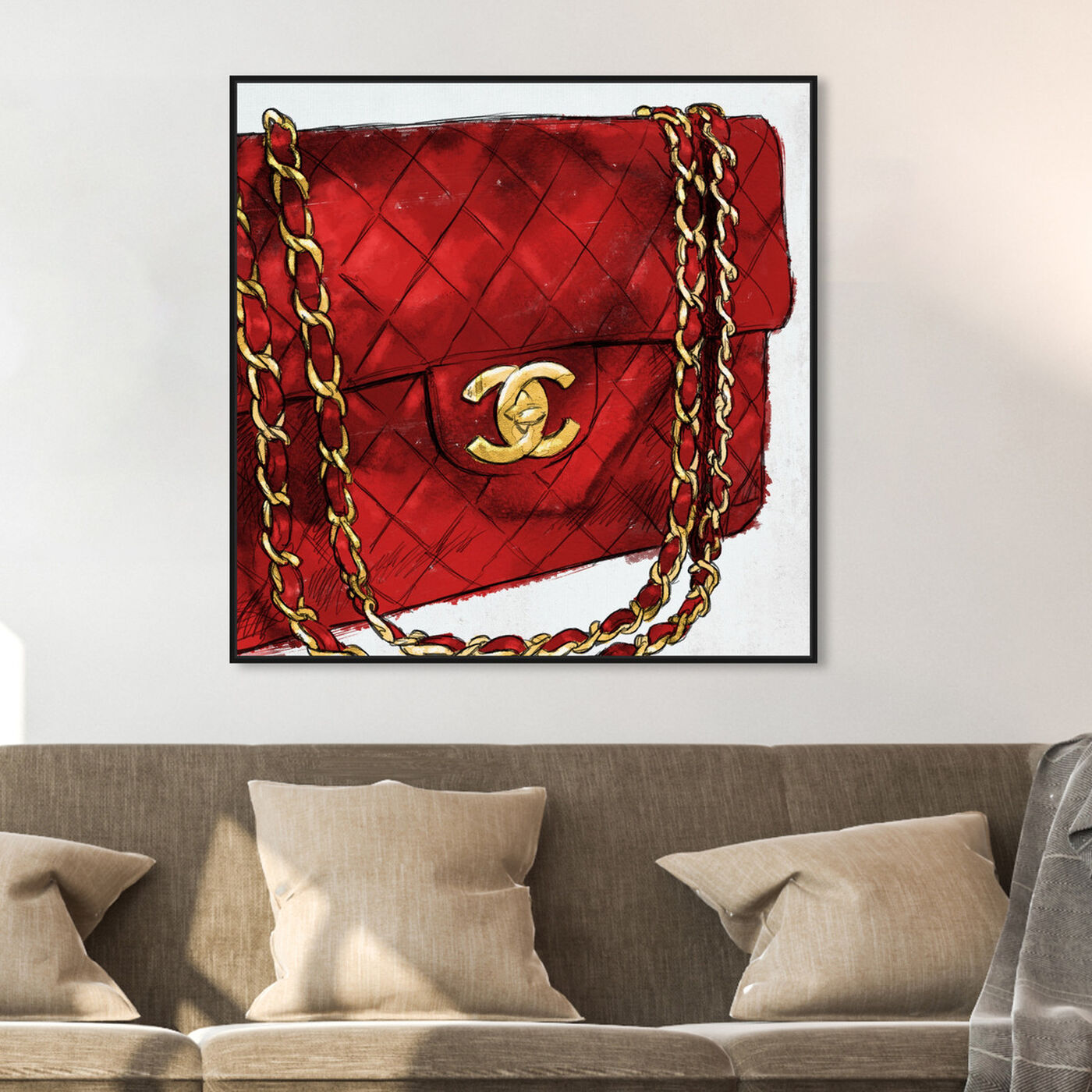 Hanging view of Pride and Joy Cherry featuring fashion and glam and handbags art.