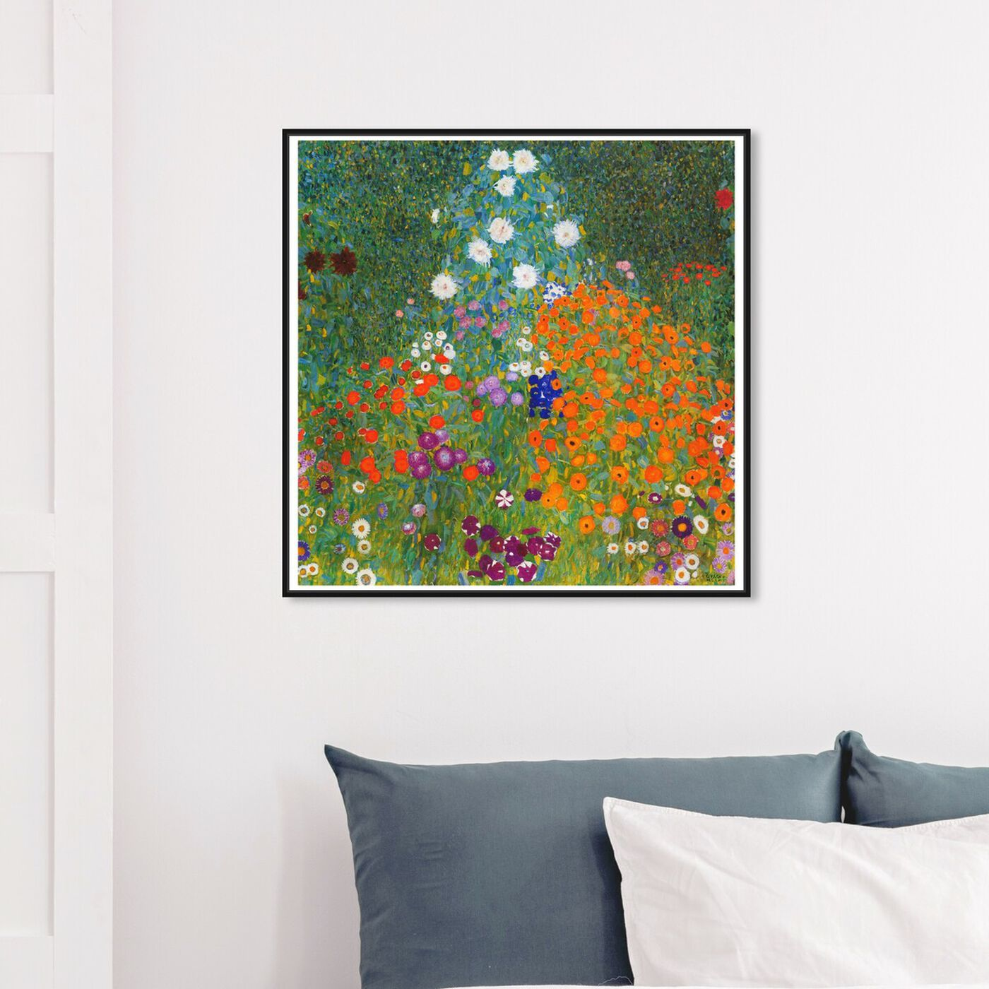 Hanging view of Klimt - Cottage Garden featuring floral and botanical and gardens art.