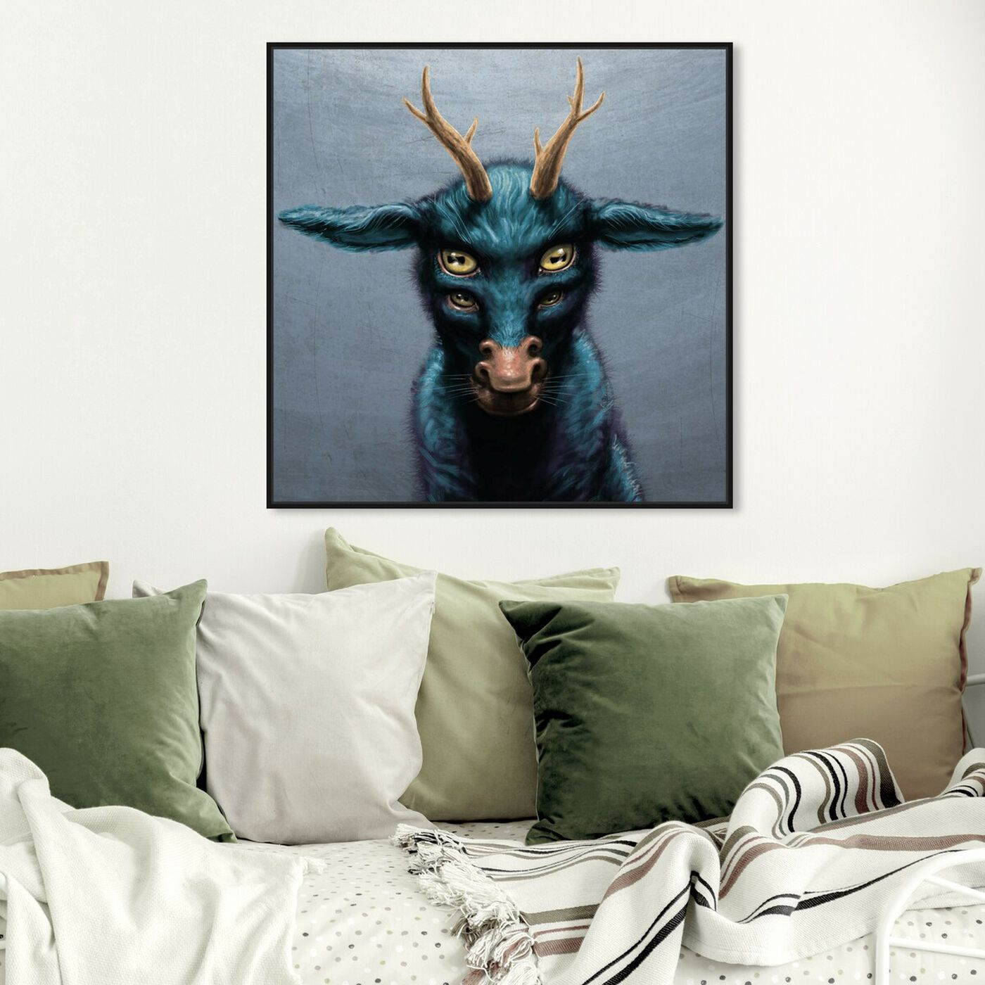 Hanging view of Mystical Creature featuring fantasy and sci-fi and fantasy creatures art.