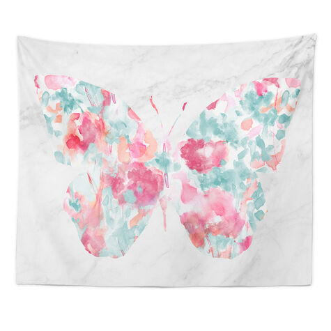 Floral Butterfly Tapestry Art