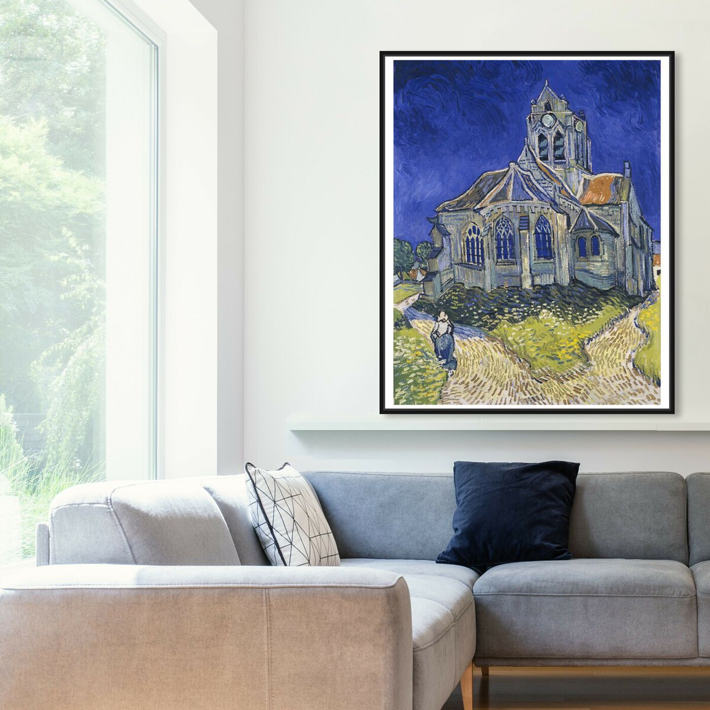 Hanging view of Van Gogh - The Church in Auvers Sur Oise featuring classic and figurative and impressionism art.