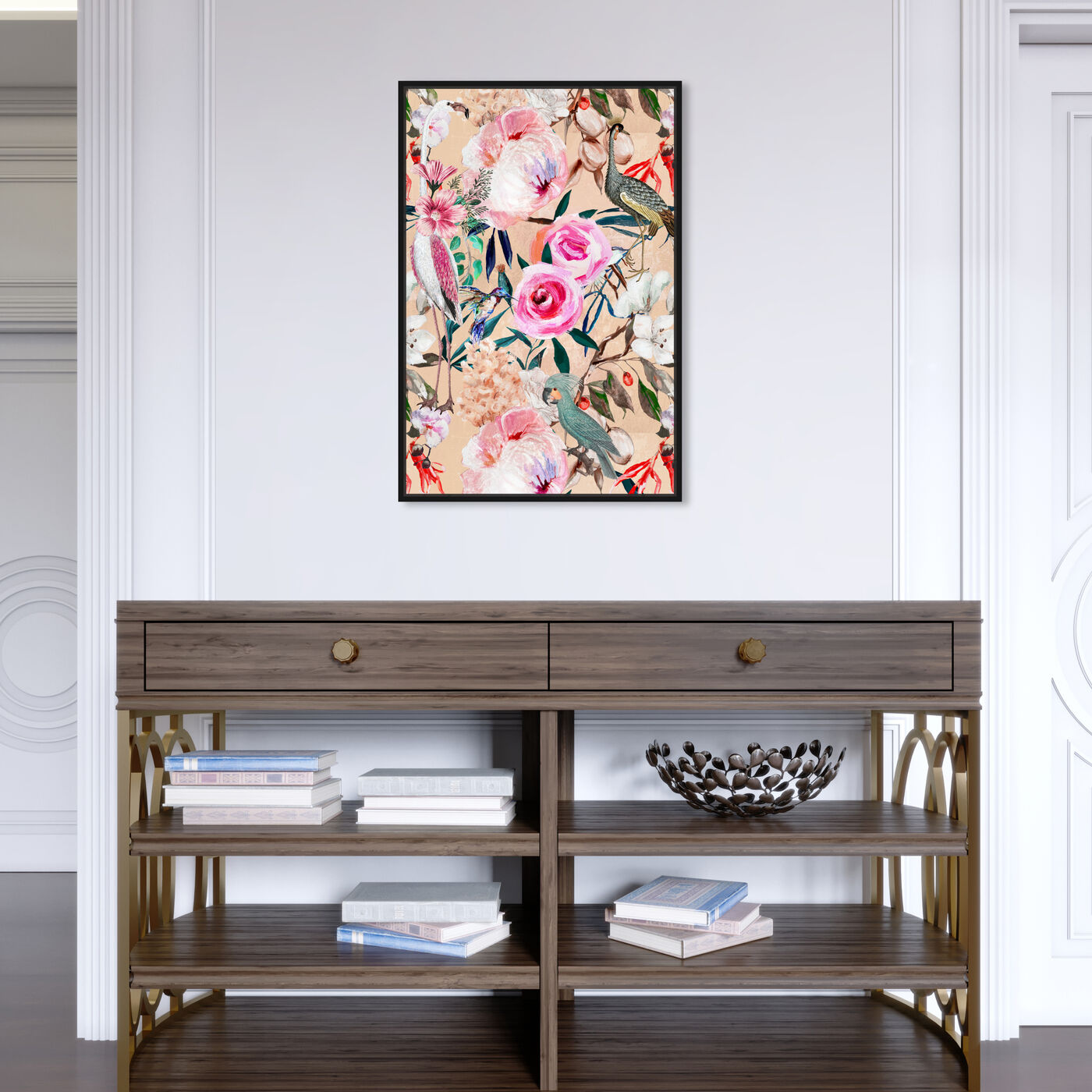 Hanging view of Le Tropic II featuring floral and botanical and florals art.