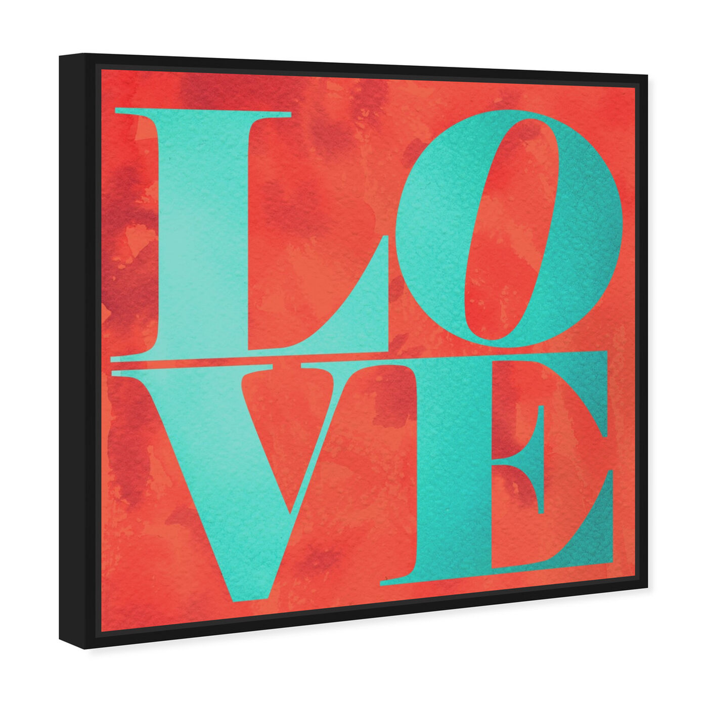 Angled view of Build on Love Tropical featuring typography and quotes and love quotes and sayings art.