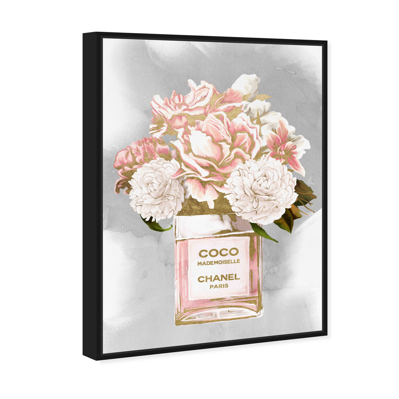 Angled view of Floral Perfume Peonies Tall featuring fashion and glam and perfumes art.