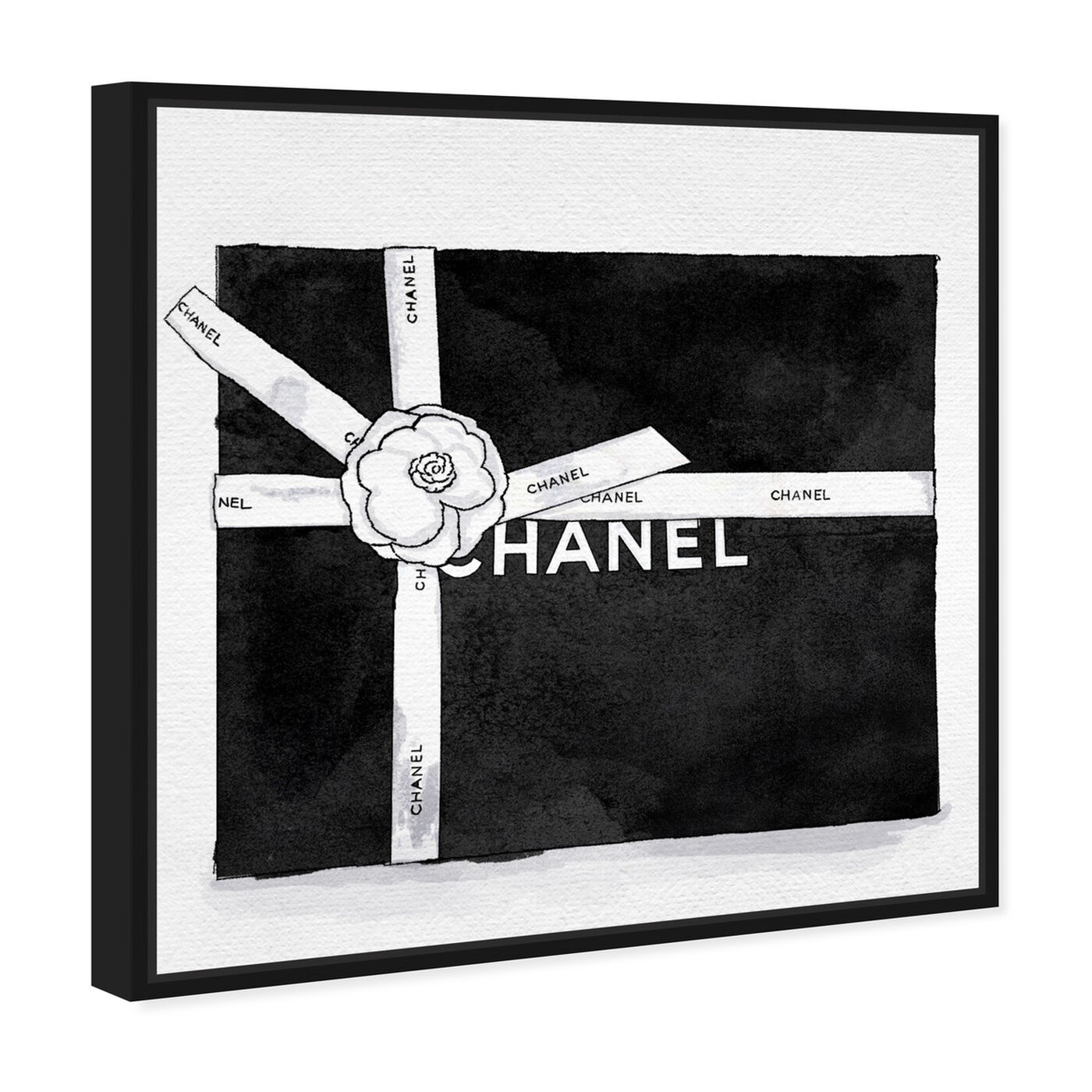Angled view of Fashionable Gift I featuring fashion and glam and lifestyle art.