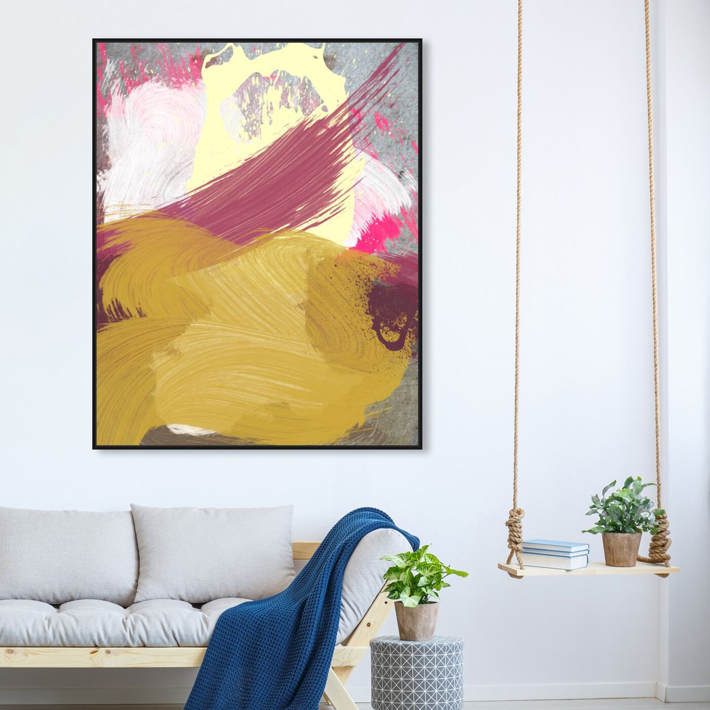 Hanging view of Number 3 Colors featuring abstract and paint art.