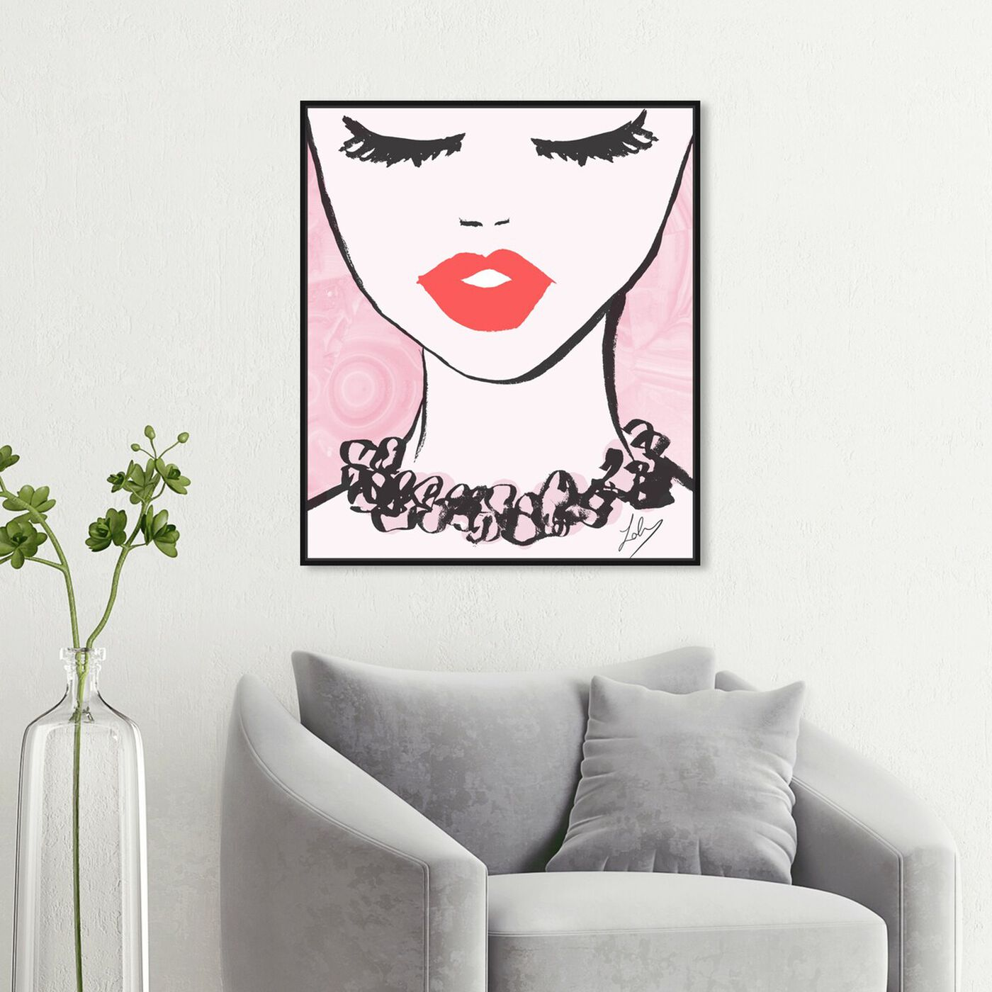 Hanging view of Classy Lips featuring fashion and glam and lips art.