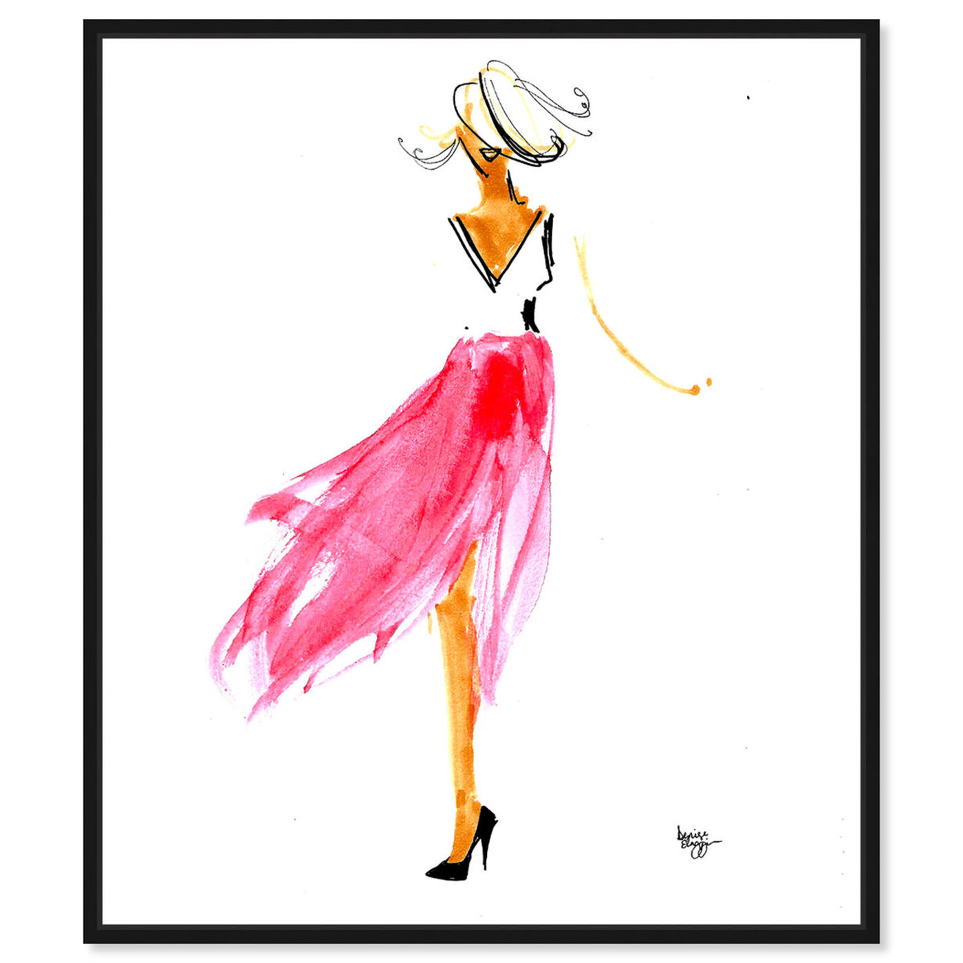 Front view of Denise Elnajjar - Breeze featuring fashion and glam and dress art.