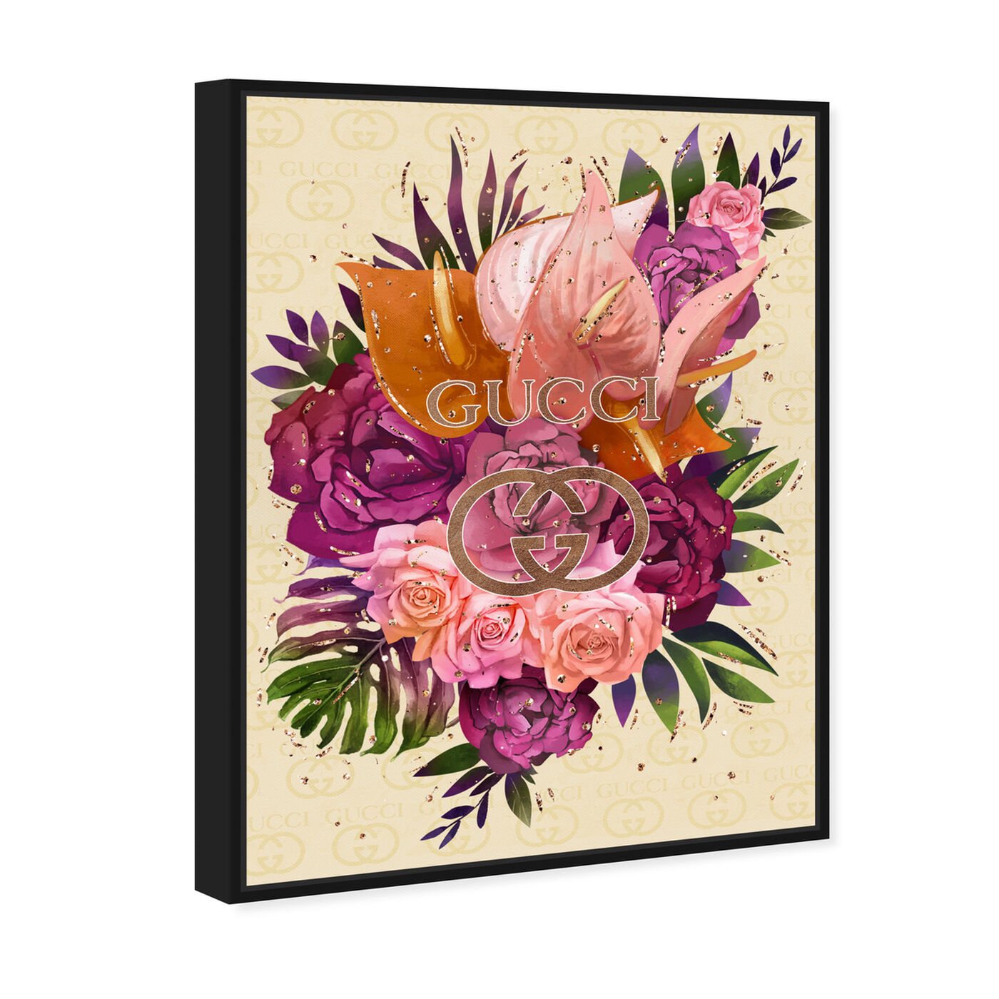 Angled view of Firenze Floral featuring floral and botanical and florals art.