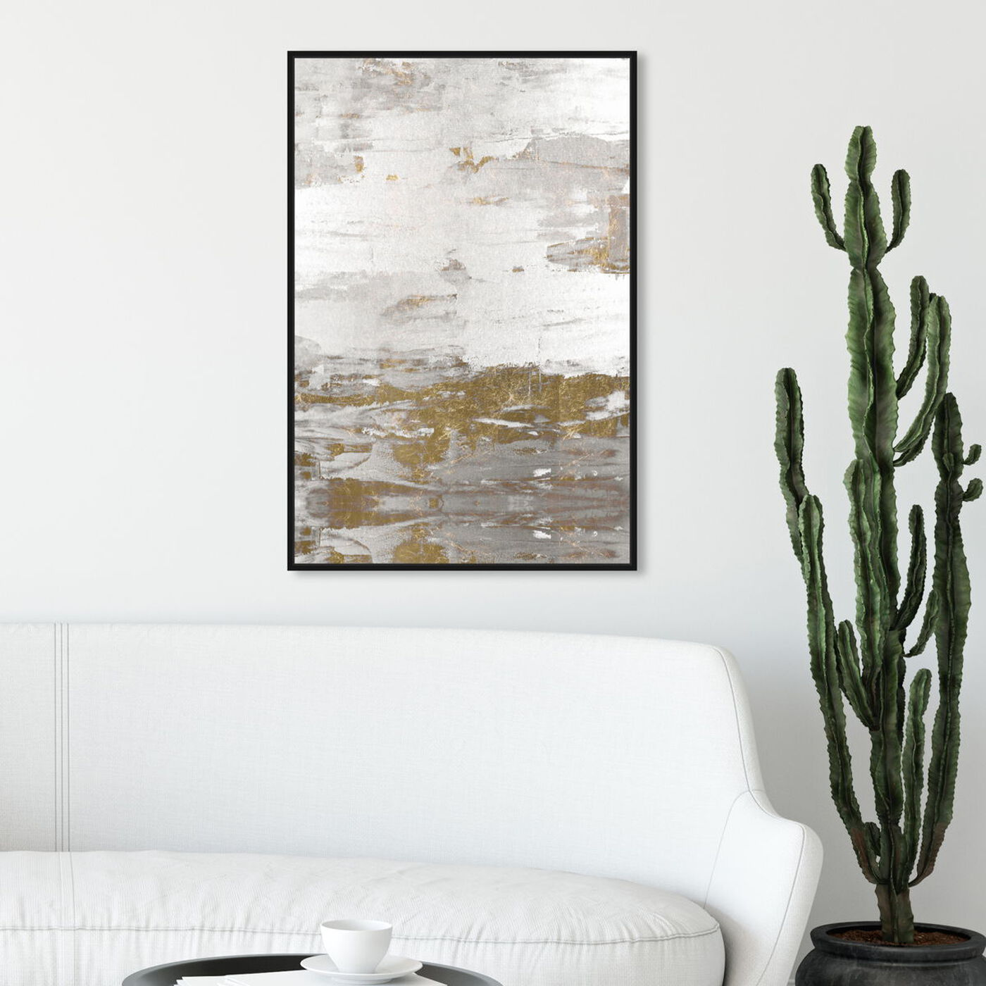 Hanging view of Tall Sensation featuring abstract and paint art.