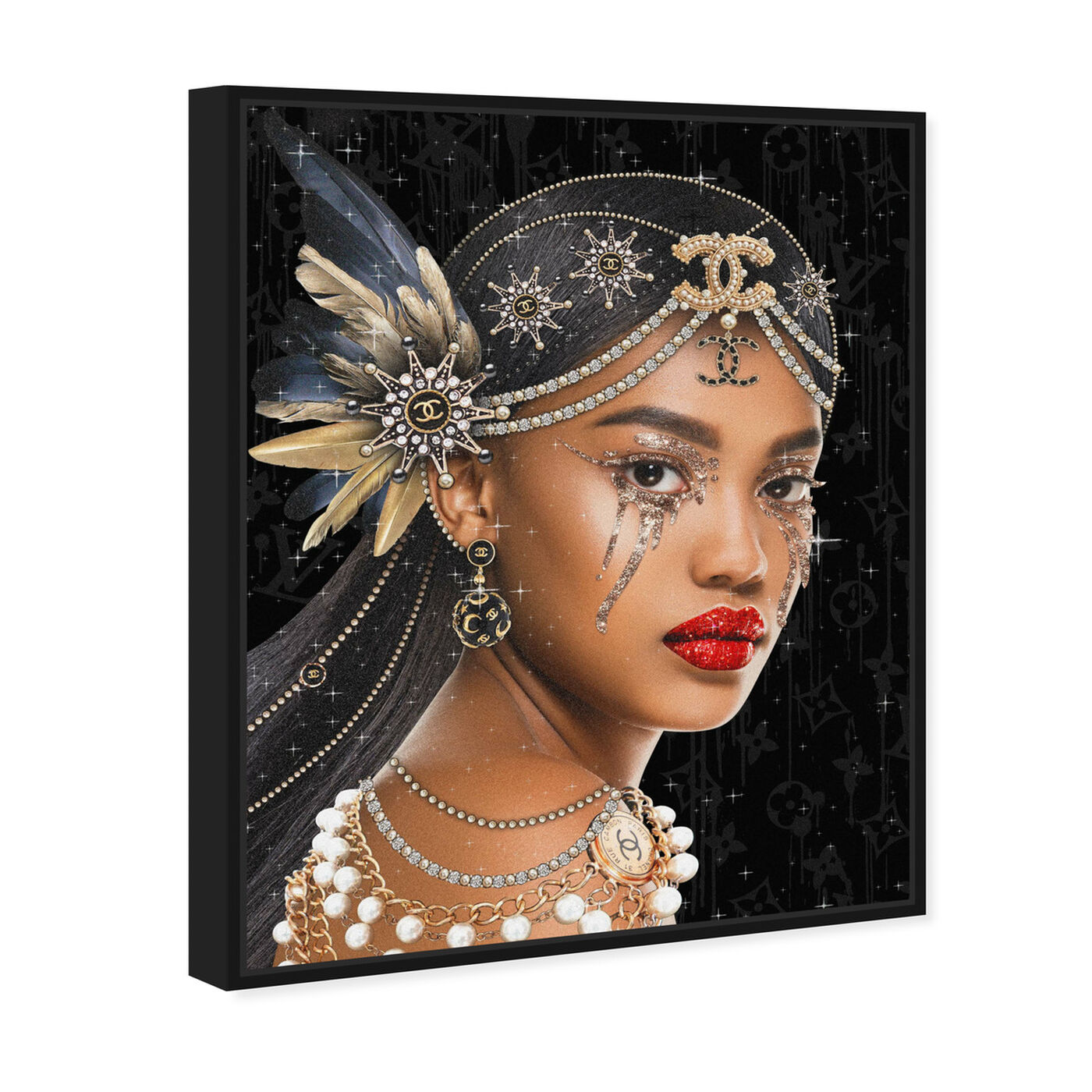Angled view of Haute Queen featuring fashion and glam and portraits art.