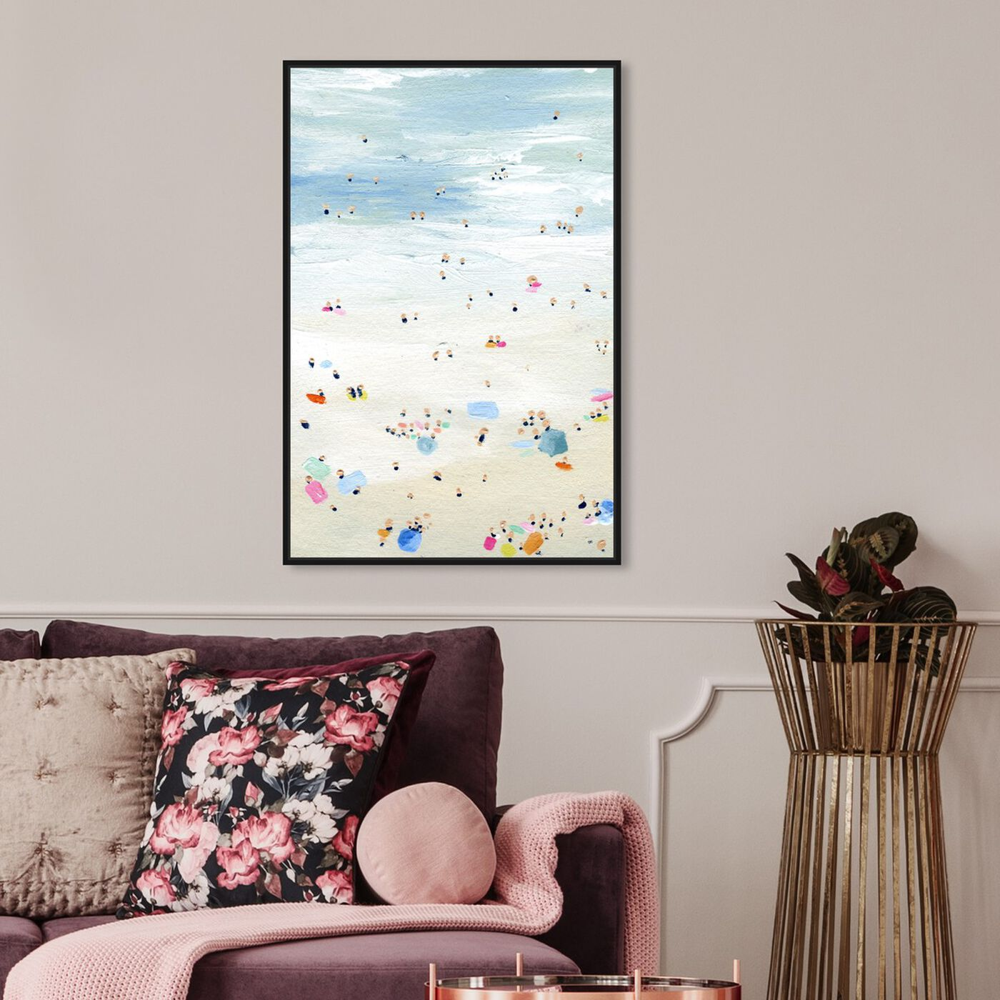 Hanging view of Tiny People featuring nautical and coastal and coastal art.