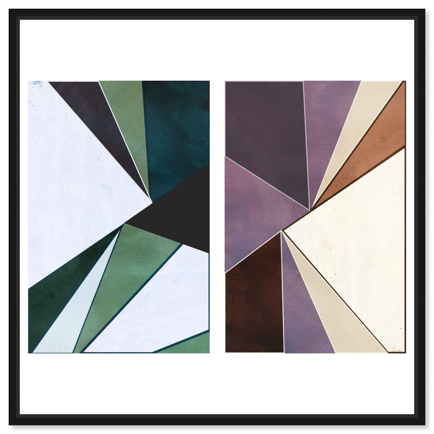 Front view of Deco set of 2 featuring abstract and geometric art.