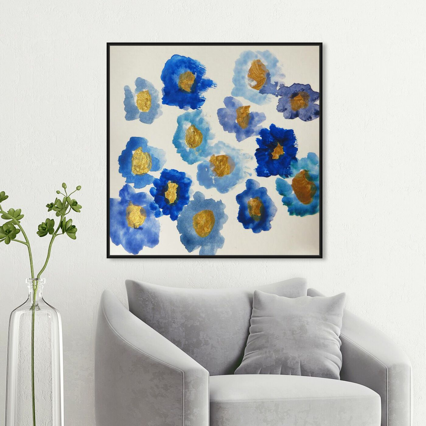 Hanging view of Ana's Garden - Signature Collection featuring floral and botanical and florals art.