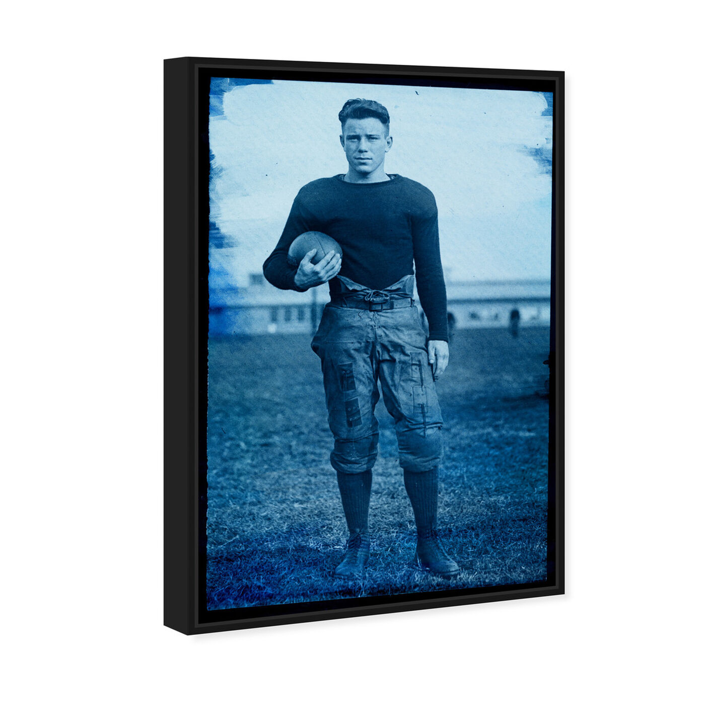 Angled view of 1922 Navy Football Player featuring sports and teams and football art.