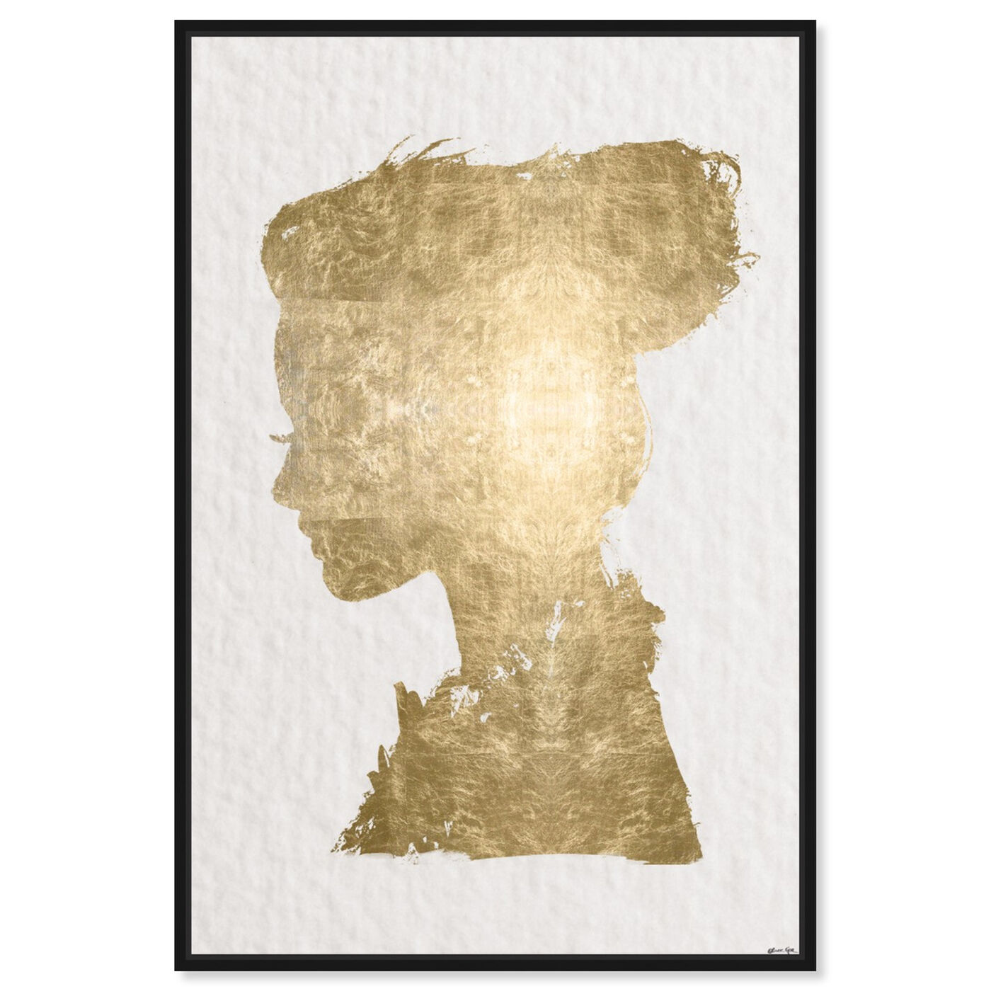 Front view of Beaute In Gold featuring fashion and glam and portraits art.