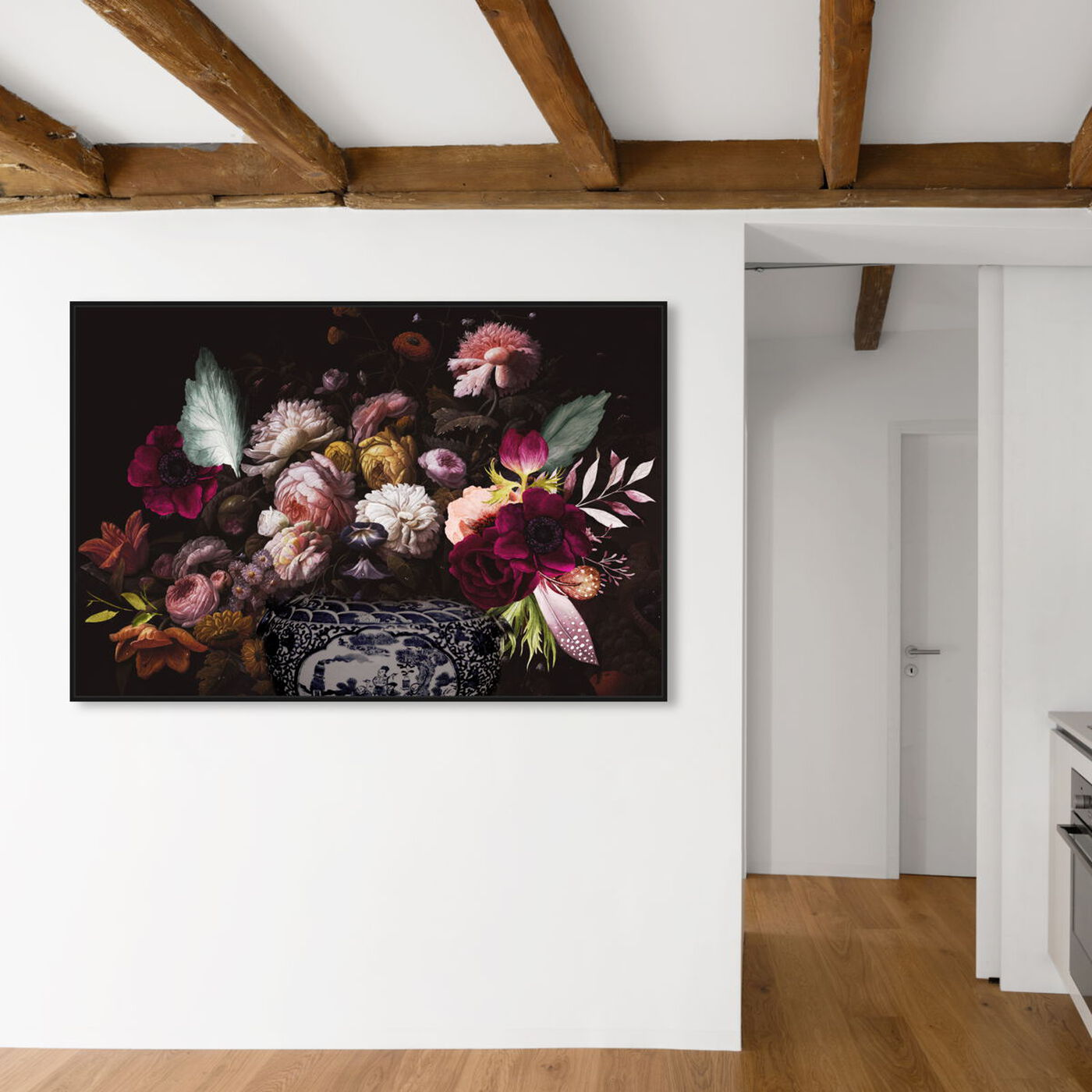 Hanging view of Colorful Classical Bouquet featuring floral and botanical and florals art.